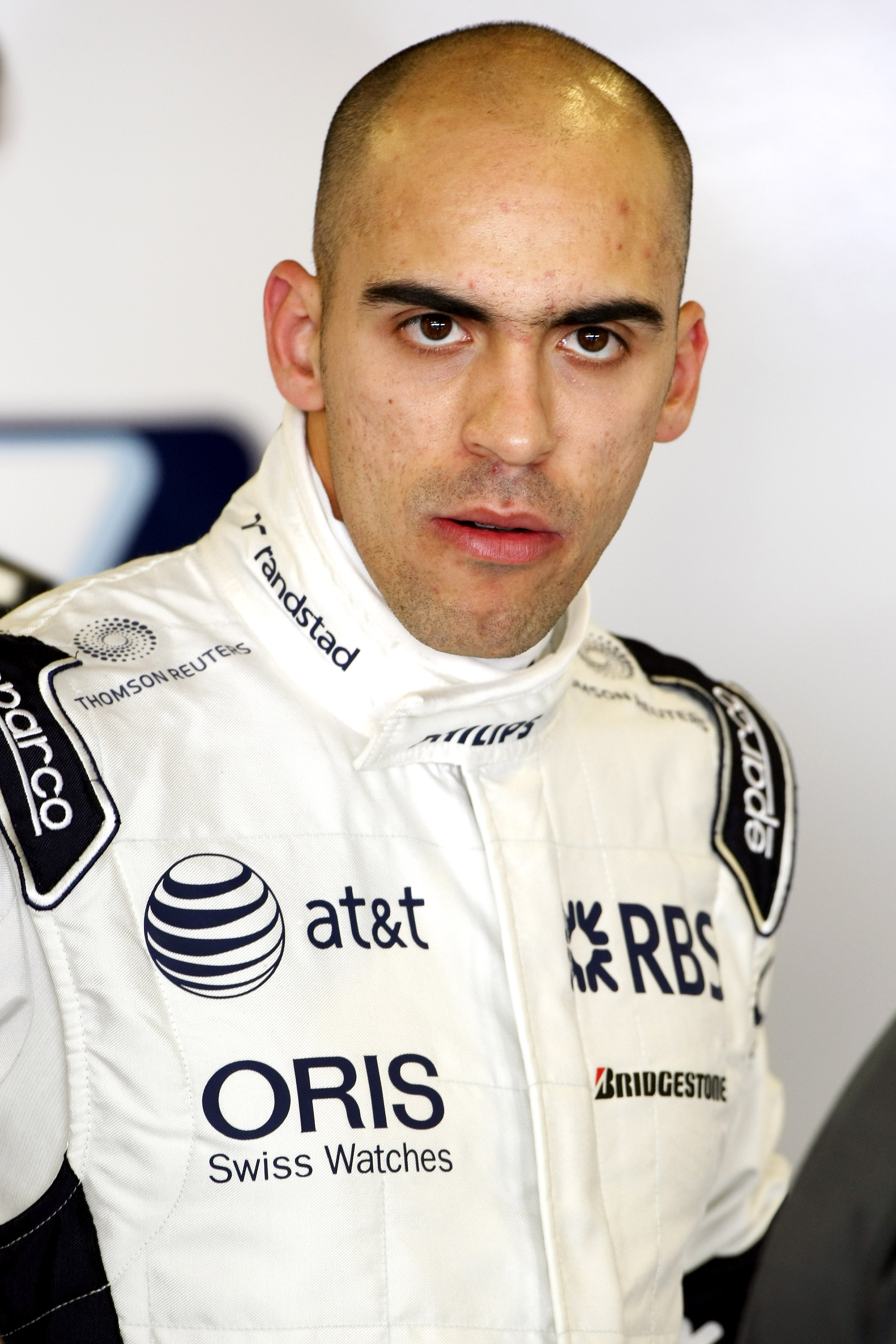 ABU DHABI, UNITED ARAB EMIRATES - NOVEMBER 17:  Pastor Maldonado of Venezuala and Williams F1 Team prepares to go out on track during the Young Driver Testing at the Yas Marina Circuit on November 17, 2010 in Abu Dhabi, United Arab Emirates.  (Photo by An