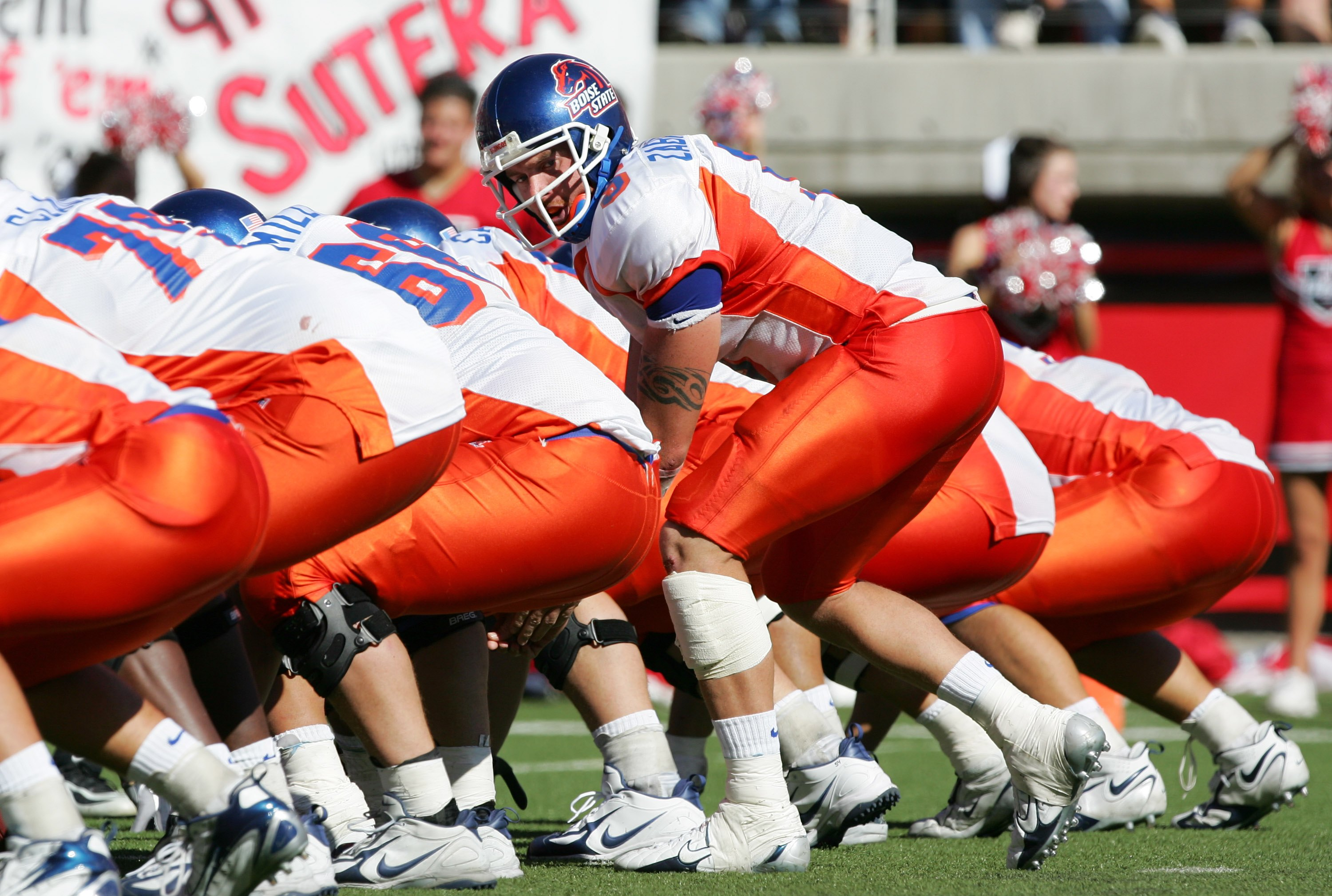 SALT LAKE CITY - SEPTEMBER 30:   Quarterback Jared Zabransky #5 of the Boise State Broncos gets ready to snap the ball  against the Utah Utes at Rice-Eccles Stadium on September 30, 2006 in Salt Lake City, Utah. The Broncos of Boise State beat the Utes of