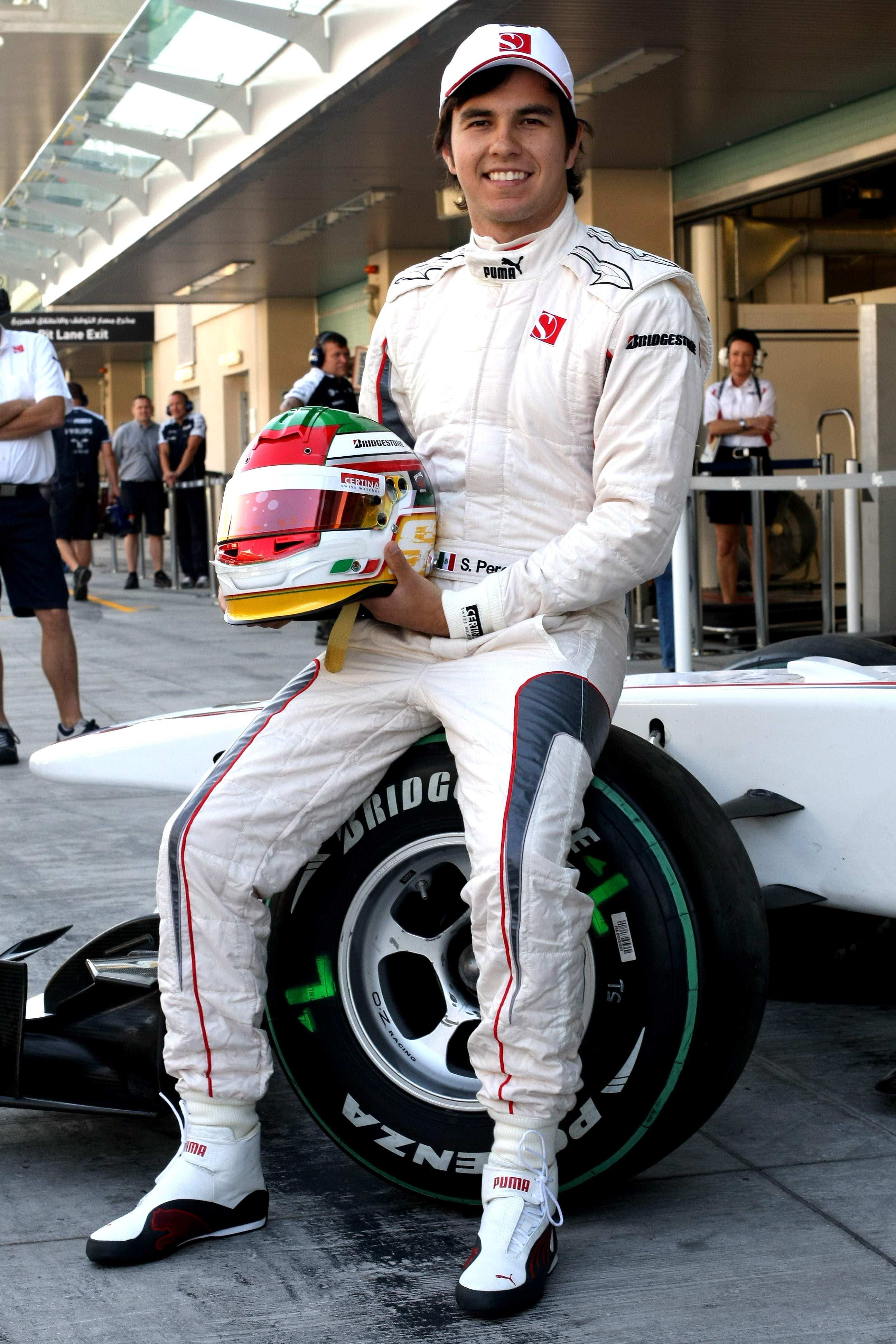 ABU DHABI, UNITED ARAB EMIRATES - NOVEMBER 17:  Sergio Perez of Mexico and Sauber F1 Team during the Young Driver Testing at the Yas Marina Circuit on November 17, 2010 in Abu Dhabi, United Arab Emirates.  (Photo by Andrew Hone/Getty Images)