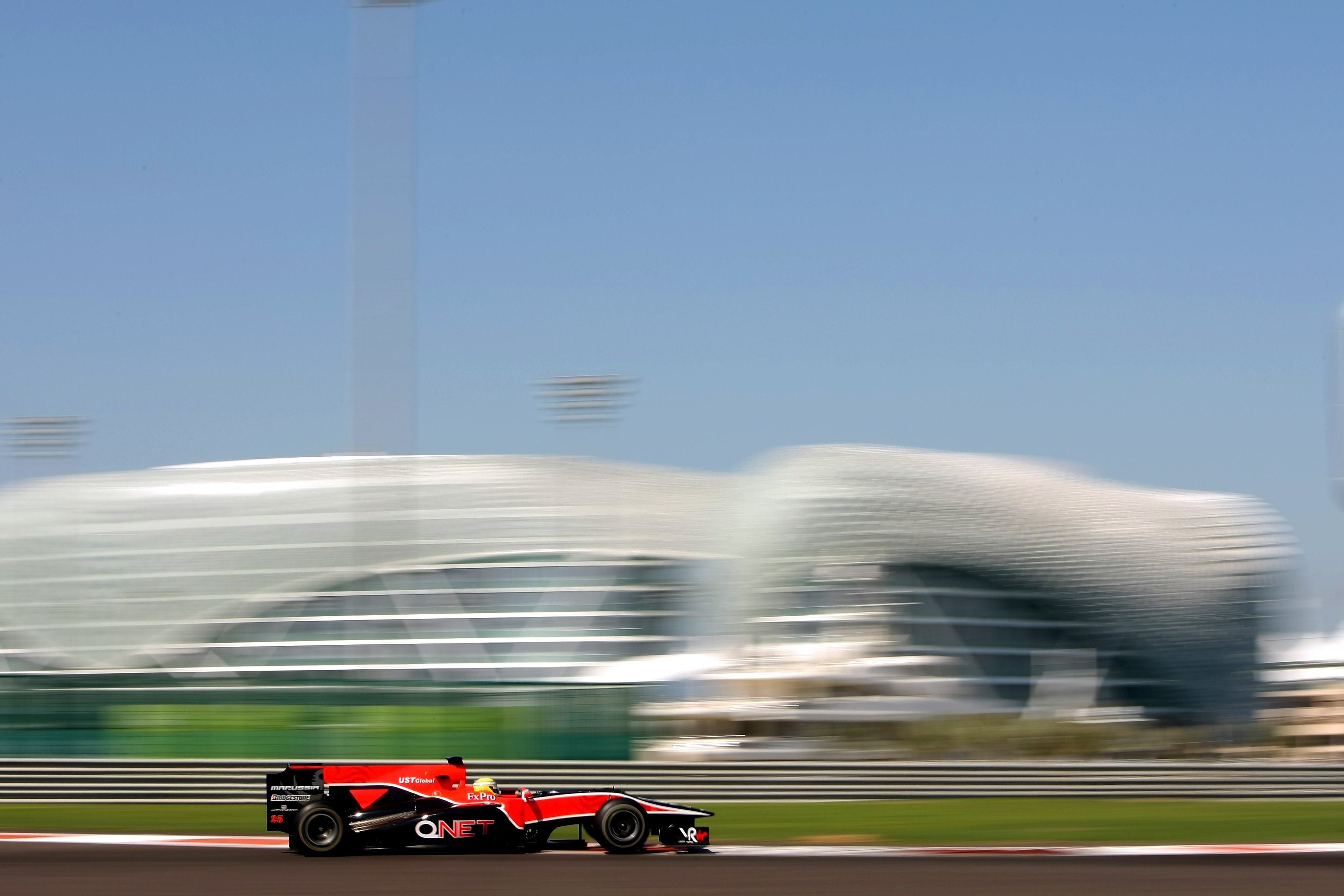 ABU DHABI, UNITED ARAB EMIRATES - NOVEMBER 17: Luiz Razia of Brazil and Virgin Racing in action during the Young Driver Testing at the Yas Marina Circuit on November 17, 2010 in Abu Dhabi, United Arab Emirates. (Photo by Andrew Hone/Getty Images)