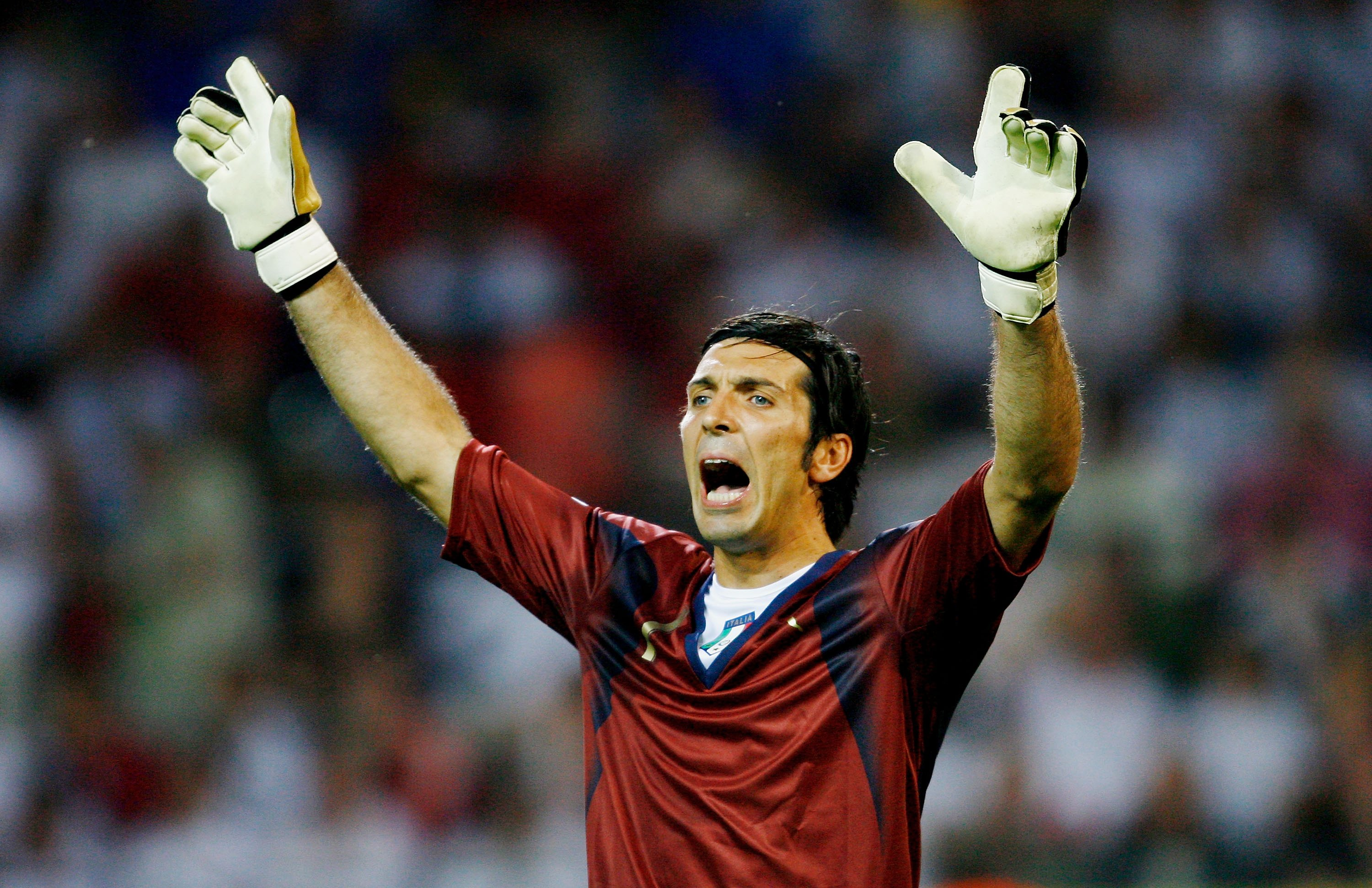 DORTMUND, GERMANY - JULY 04: Gianluigi Buffon of Italy gestures during the FIFA World Cup Germany 2006 Semi-final match between Germany and Italy played at the Stadium Dortmund on July 04, 2006 in Dortmund, Germany.  (Photo by Shaun Botterill/Getty Images