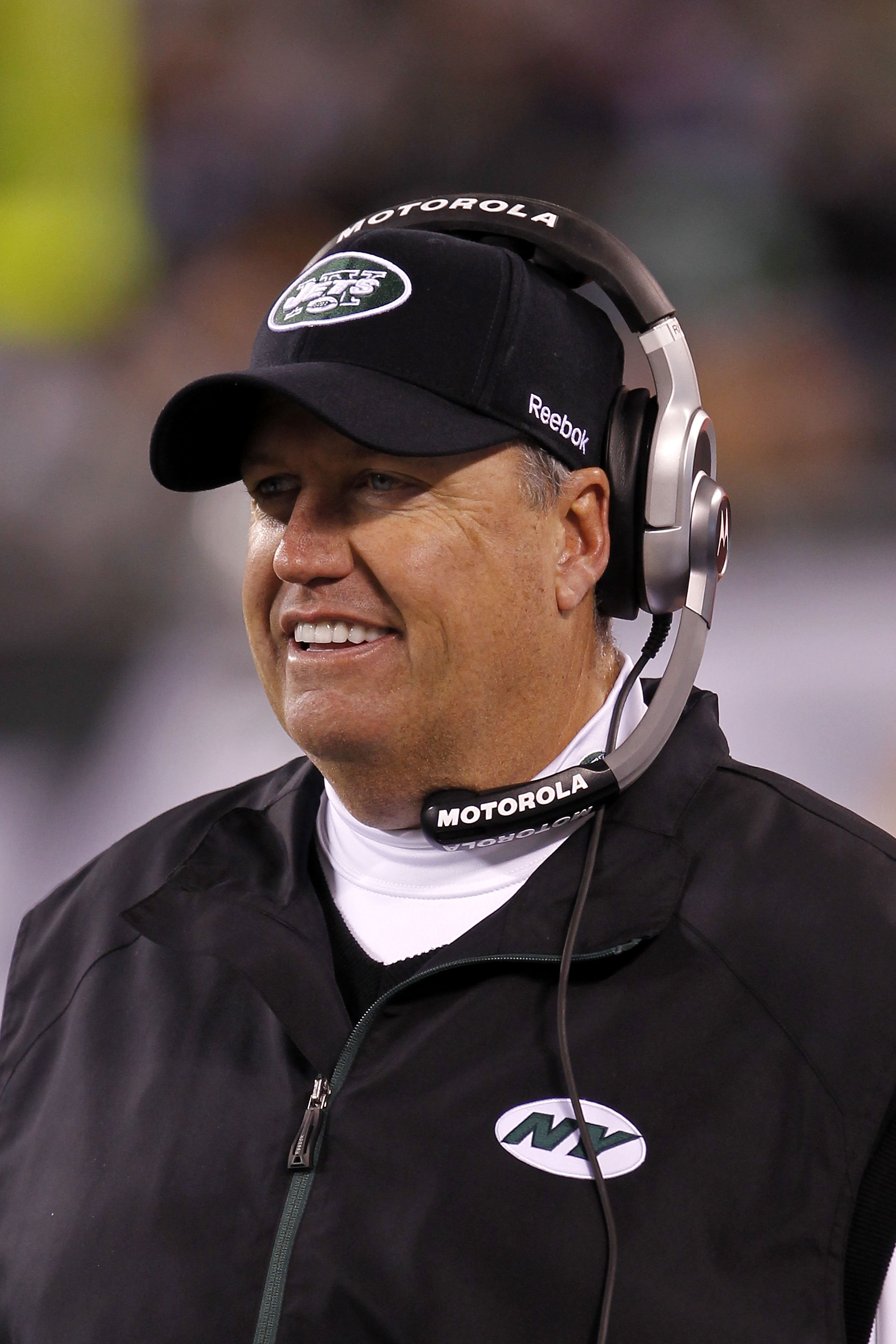 EAST RUTHERFORD, NJ - NOVEMBER 25: Head Coach Rex Ryan of the New York Jets watche the game against the Cincinnati Bengals at New Meadowlands Stadium on November 25, 2010 in East Rutherford, New Jersey. The Jets defeated the Bengal 26-10.  (Photo by Chris