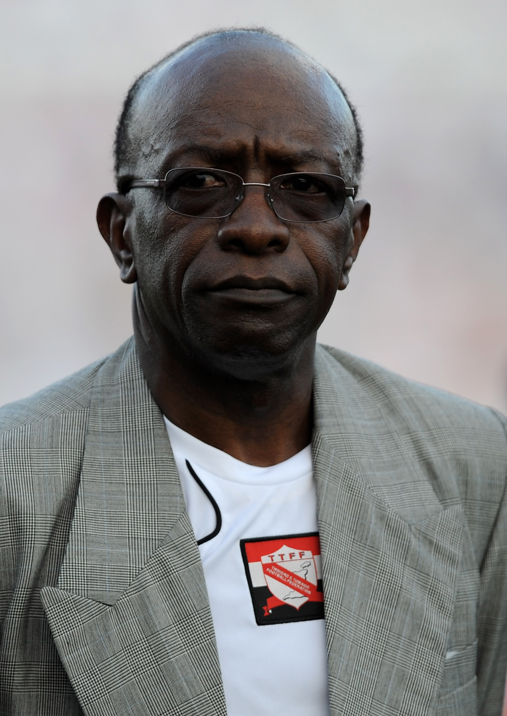 PORT-OF-SPAIN, TRINIDAD AND TOBAGO - JUNE 01:  Jack Warner, the CONCACAF president and vice president of FIFA is seen before the international friendly between Trinidad & Tobago and England at the Hasely Crawford Stadium on June 1, 2008 in Port of Spain,