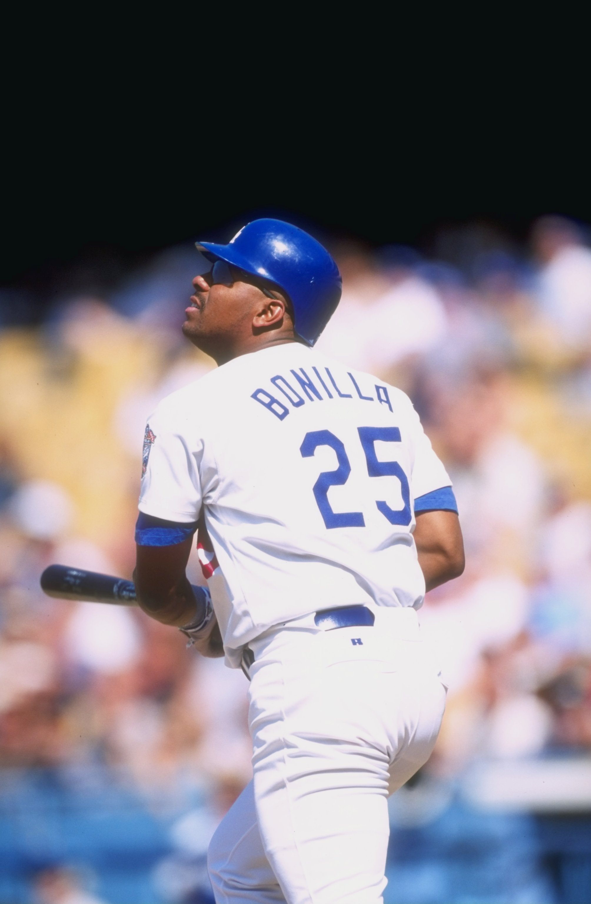 13 Jun 1998:  Bobby Bonilla #25 of the Los Angeles Dodgers in action during a game against the Colorado Rockies at the Dodger Stadium in Los Angeles, California.  The Rockies defeated the Dodgers 4-2. Mandatory Credit: Vincent Laforet  /Allsport