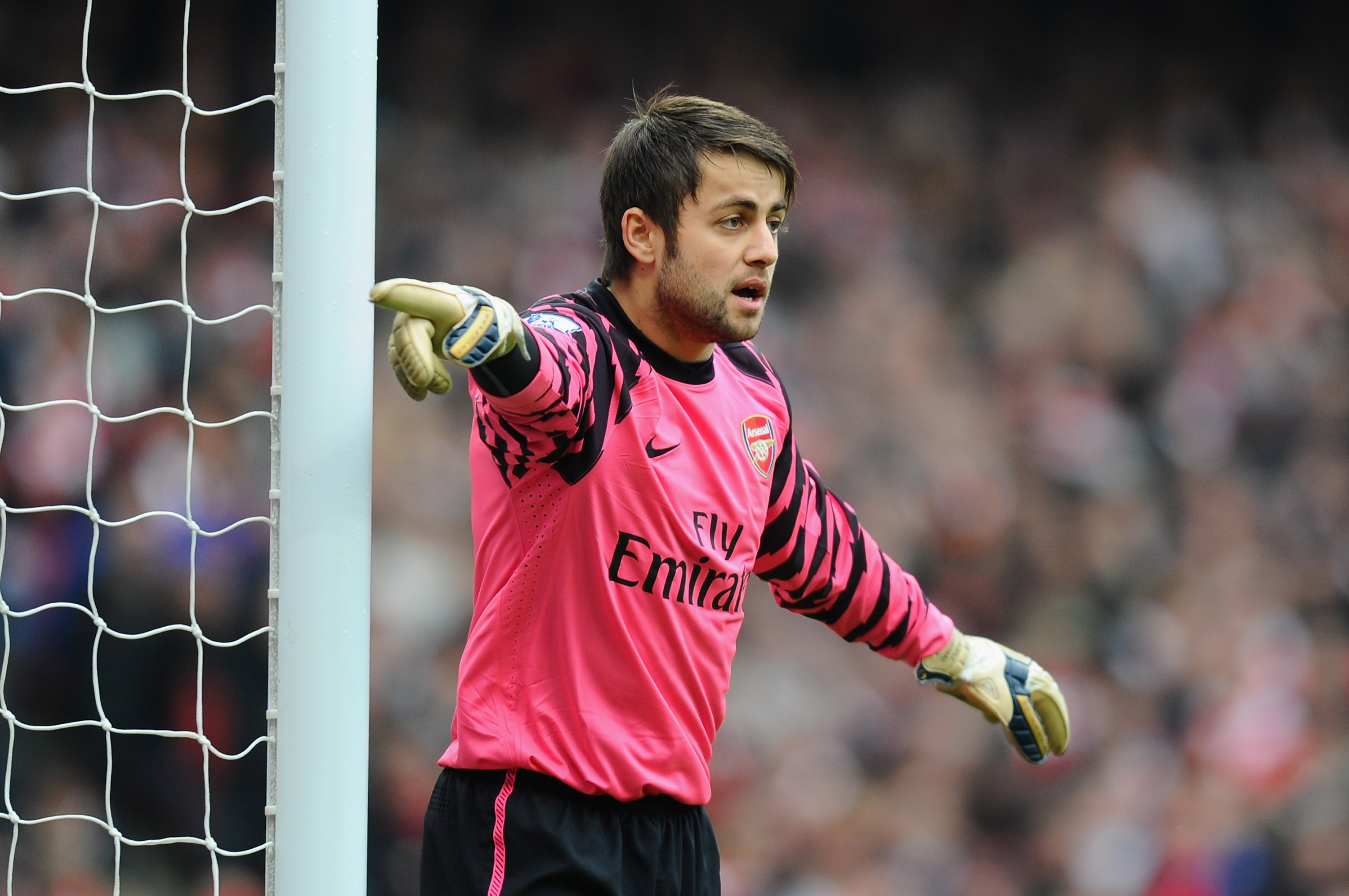 LONDON, ENGLAND - NOVEMBER 20:  Lukasz Fabianski of Arsenal in action during the Barclays Premier League match between Arsenal and Tottenham Hotspur at the Emirates Stadium on November 20, 2010 in London, England.  (Photo by Mike Hewitt/Getty Images)