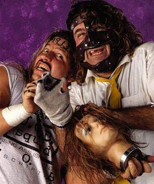 Mr Socko and Head... Oh! There's also Al Snow and Mankind.