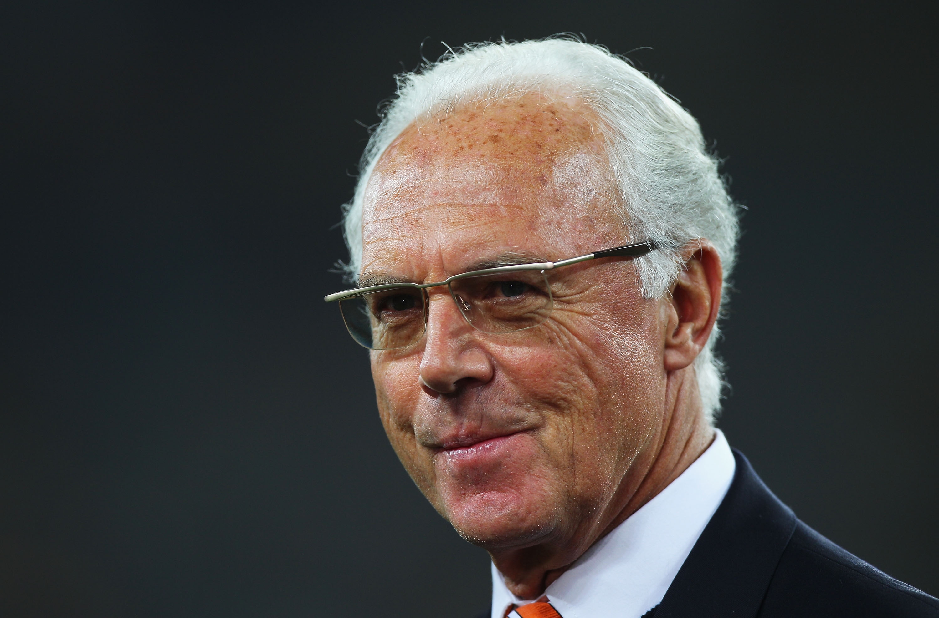 DURBAN, SOUTH AFRICA - JULY 07:  Franz Beckenbauer attends the 2010 FIFA World Cup South Africa Semi Final match between Germany and Spain at Durban Stadium on July 7, 2010 in Durban, South Africa.  (Photo by Michael Steele/Getty Images)