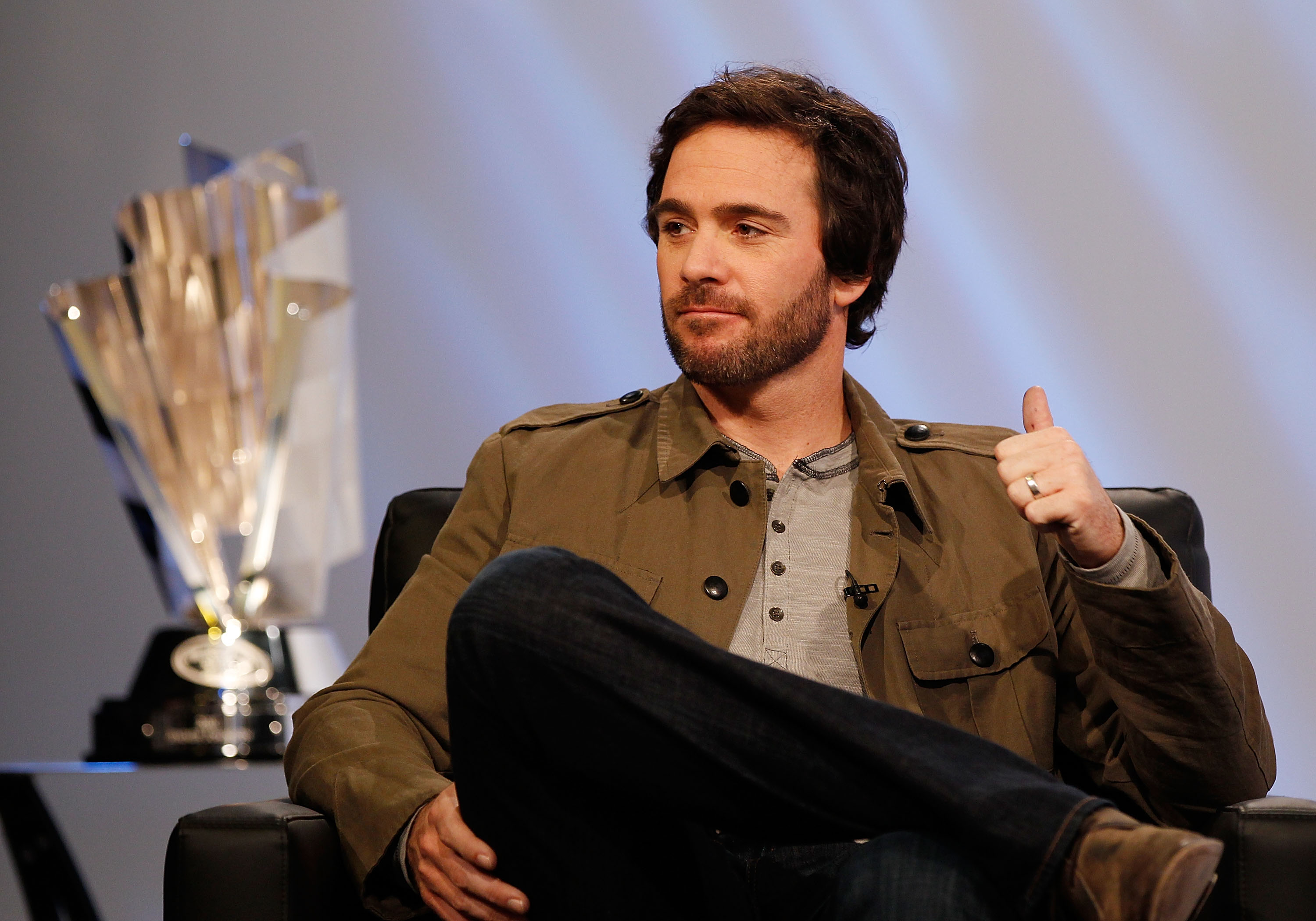 Jimmie Johnson isn't getting much press as Mr Nice Guy.  Look for him to embrace the dark side at NASCAR  Awards Ceremony