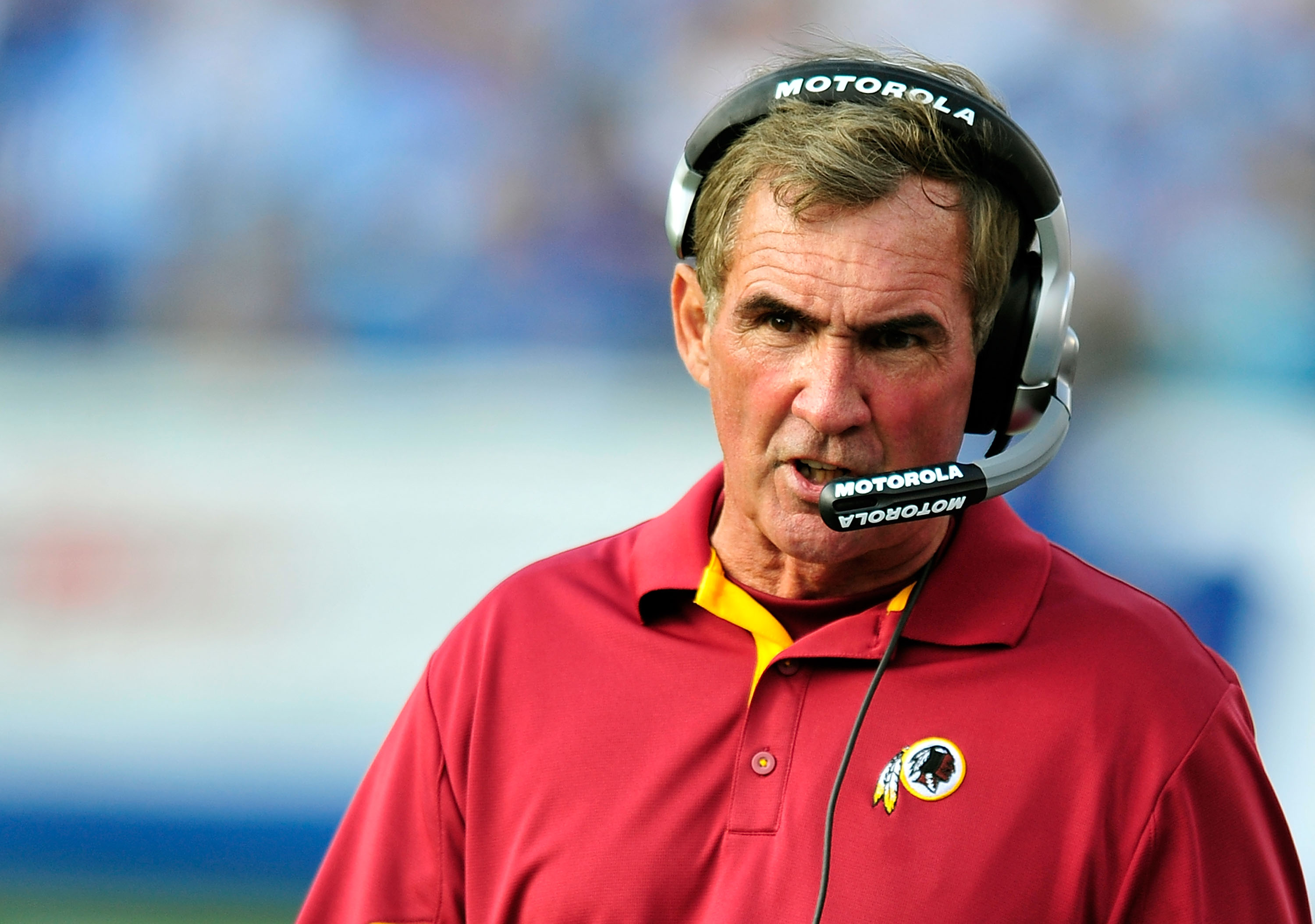 NASHVILLE, TN - NOVEMBER 21:  Coach Mike Shanahan of the Washington Redskins watches his team against the Tennessee Titans at LP Field on November 21, 2010 in Nashville, Tennessee. The Redskins won 19-16 in overtime.  (Photo by Grant Halverson/Getty Image