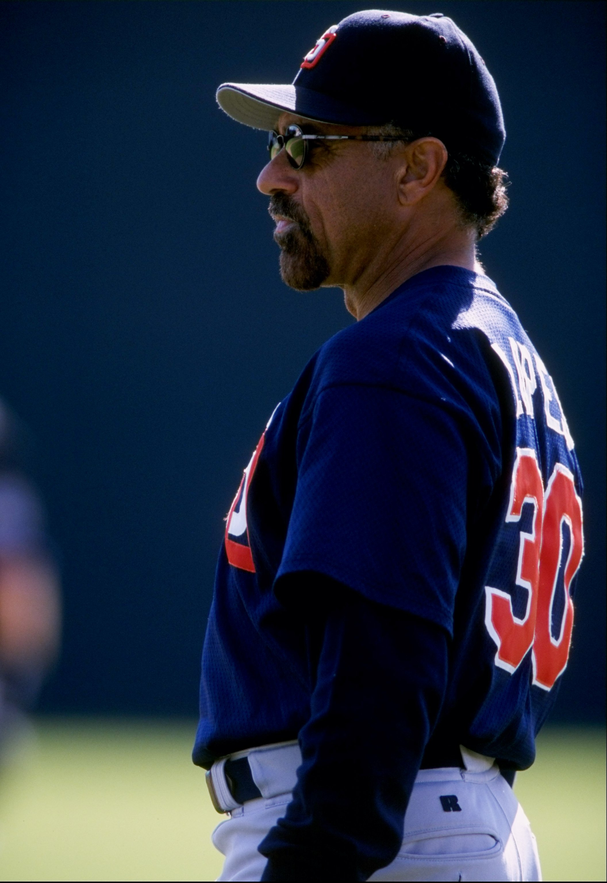 2 Mar 1998:  Davey Lopes #30 of the San Diego Padres looks on during a spring training game against the Colorado Rockies at Hi Corbett Field in Tucson, Arizona. The Padres defeated the Rockies 6-1. Mandatory Credit: Todd Warshaw  /Allsport