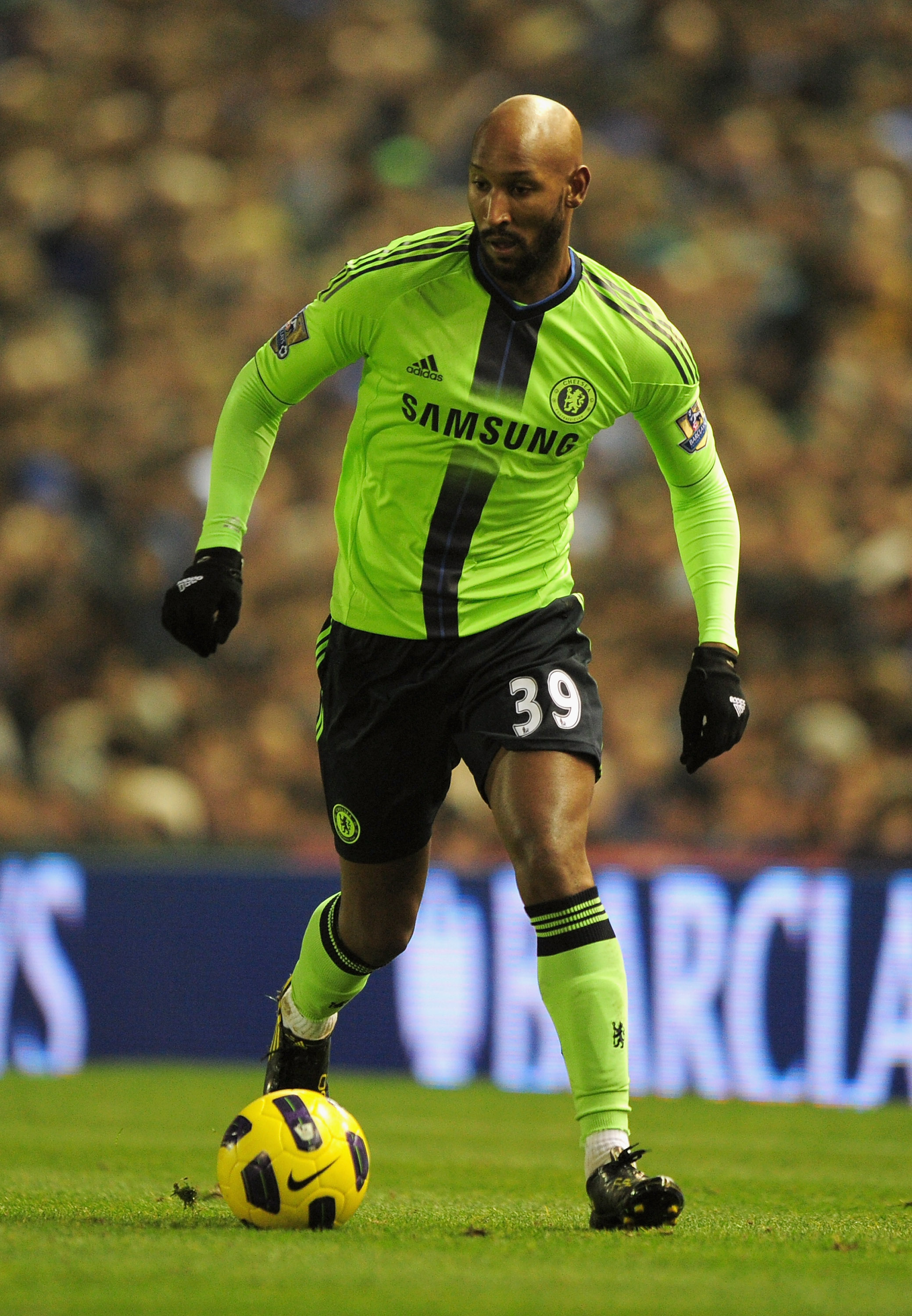 BIRMINGHAM, ENGLAND - NOVEMBER 20:  Nicolas Anelka of Chelsea runs with the ball during the Barclays Premier League match between Birmingham City and Chelsea at St Andrews on November 20, 2010 in Birmingham, England.  (Photo by Shaun Botterill/Getty Image