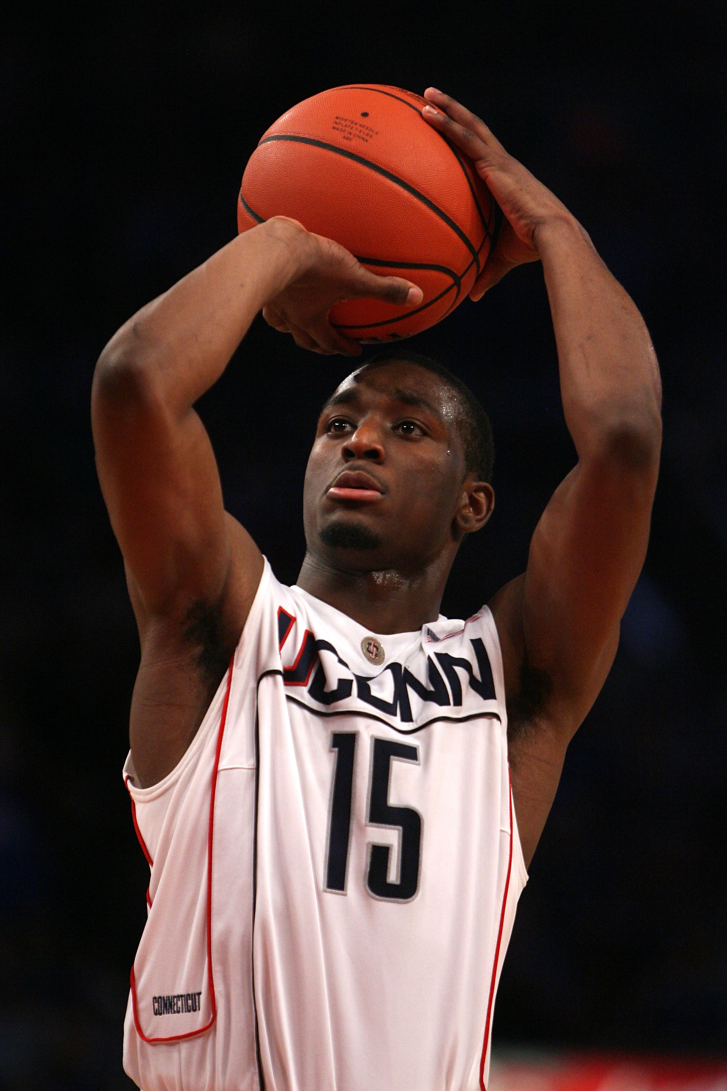 NEW YORK - DECEMBER 09:  Kemba Walker #15 of the Connecticut Huskies shoots a free throw against the Kentucky Wildcats during the SEC Big East Invitational at Madison Square Garden on December 9, 2009 in New York, New York.  (Photo by Chris Trotman/Getty