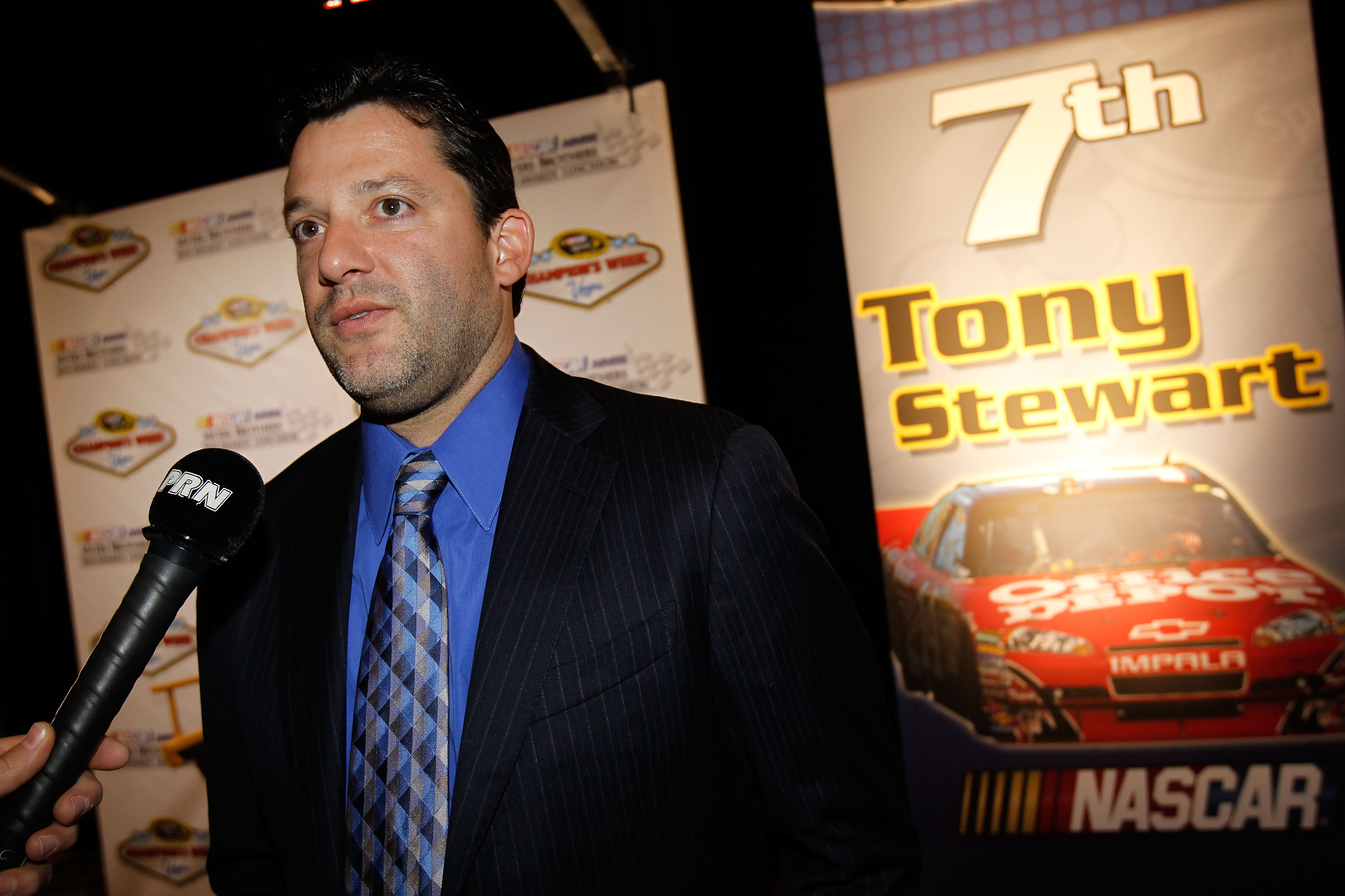 Watching Tony Stewart this week in Las Vegas he is relaxed but not happy with a seventh place finish.