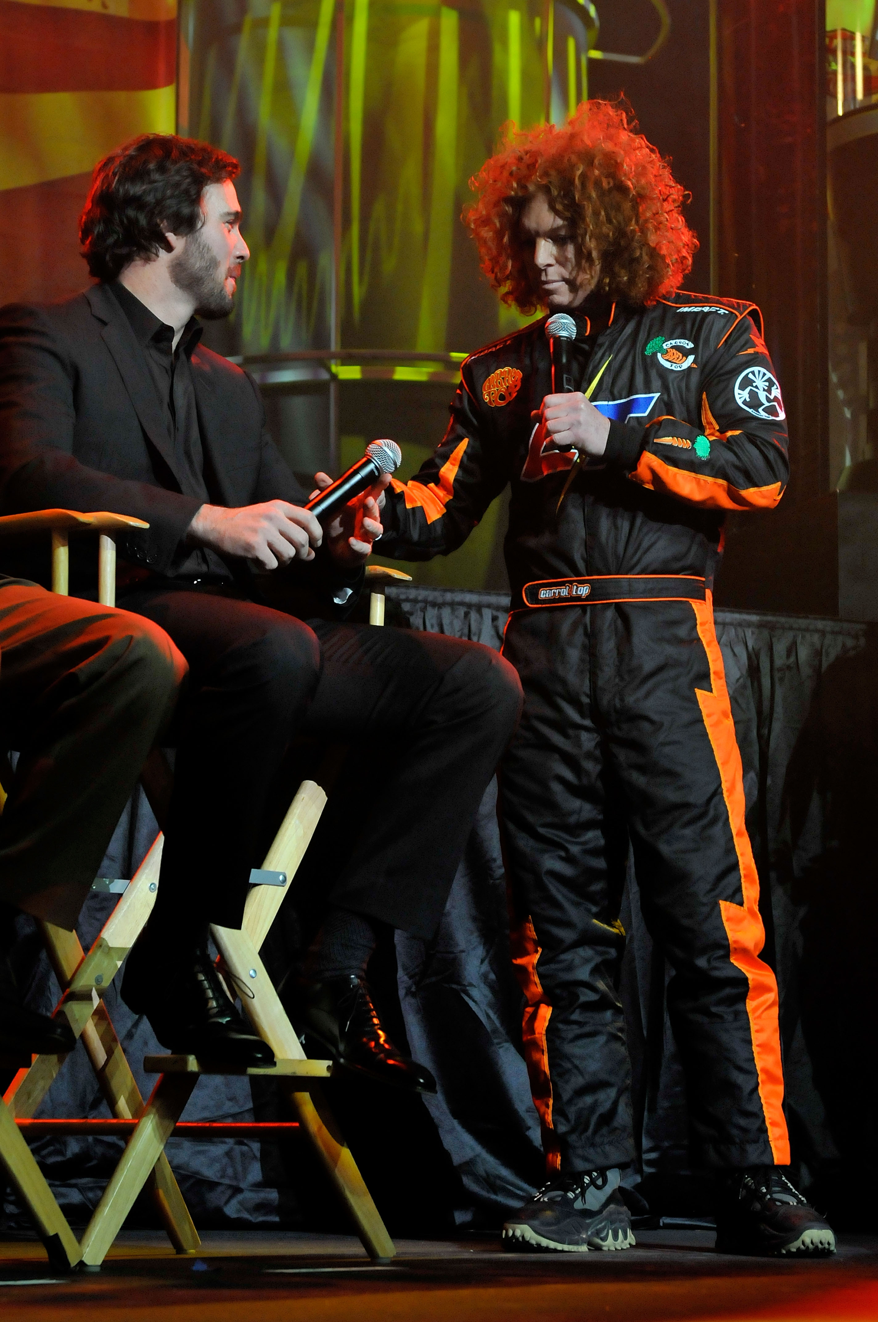 Carrot Top Closed the Show for the NASCAR After the Lap Celebration at the Hard Rock Hotel in Las Vegas.