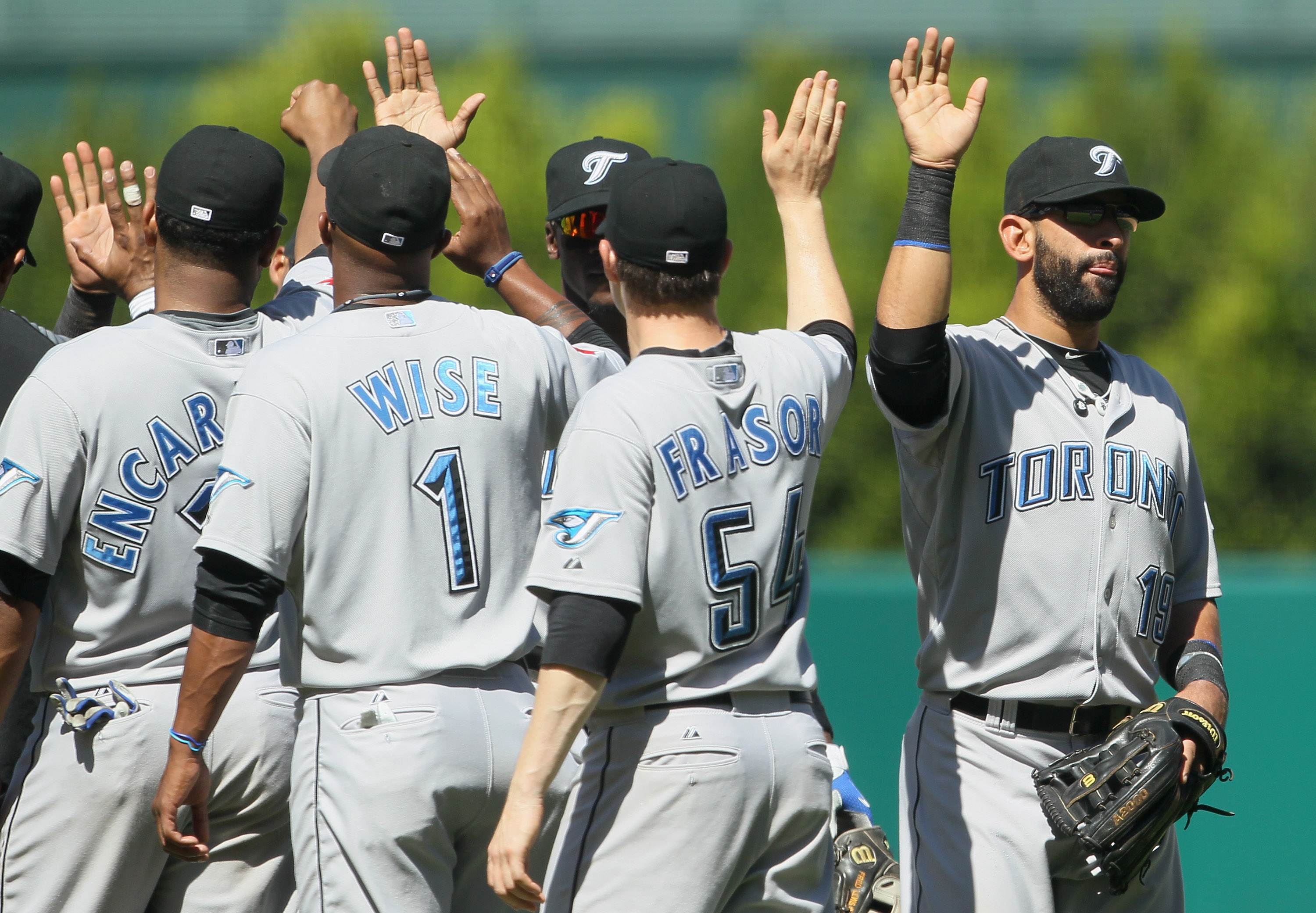 Jraser will high five his teammates in Toronto again in 2011.