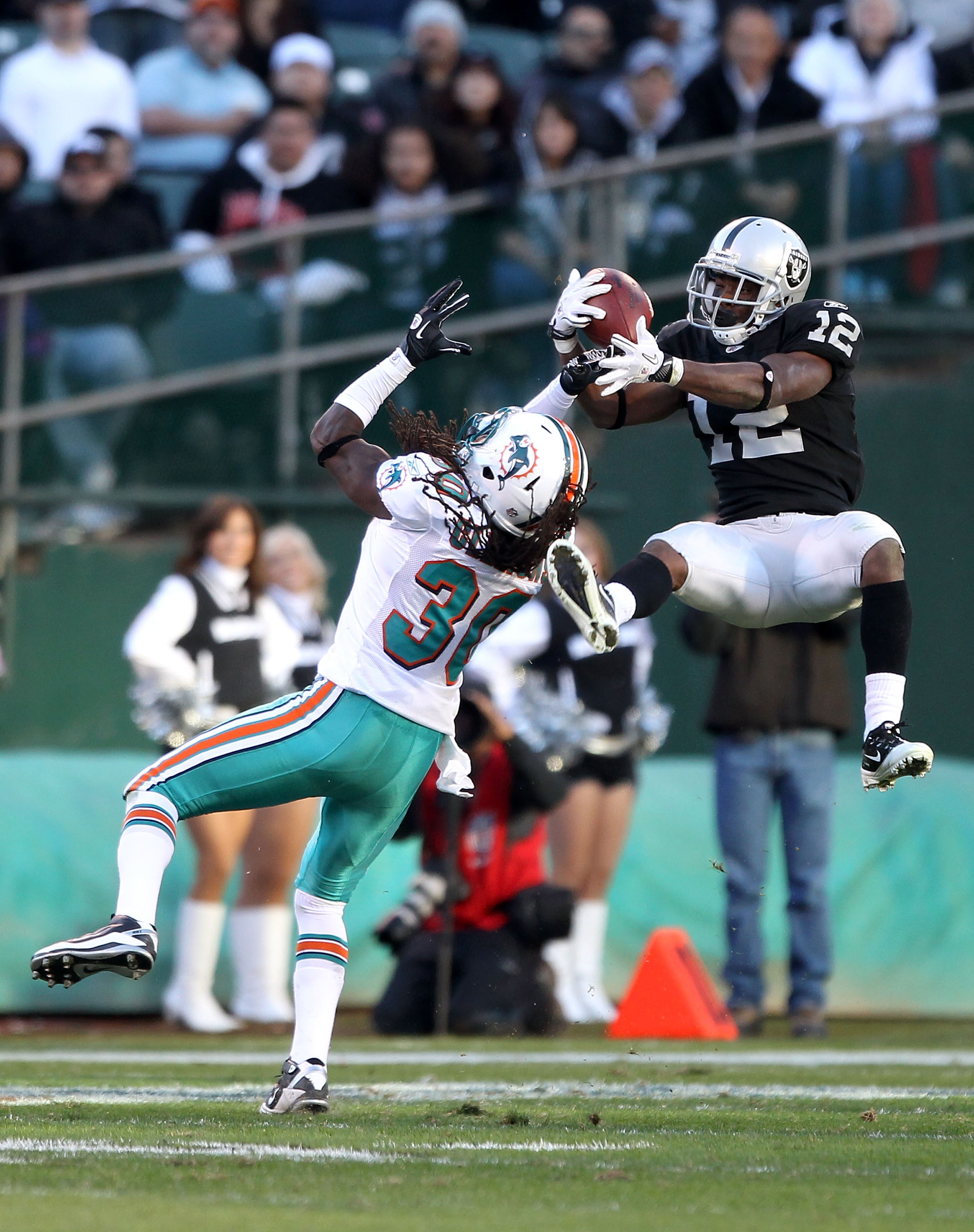 Jacoby Ford Thieves Another Interception from an Opponent. The QBs on this Team Owe this Kid a New Car for Saving them on Multiple Occasions