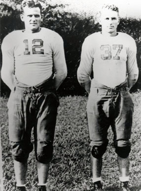 That's Don Hutson on the right and some no-account kid from Arkansas on the left.