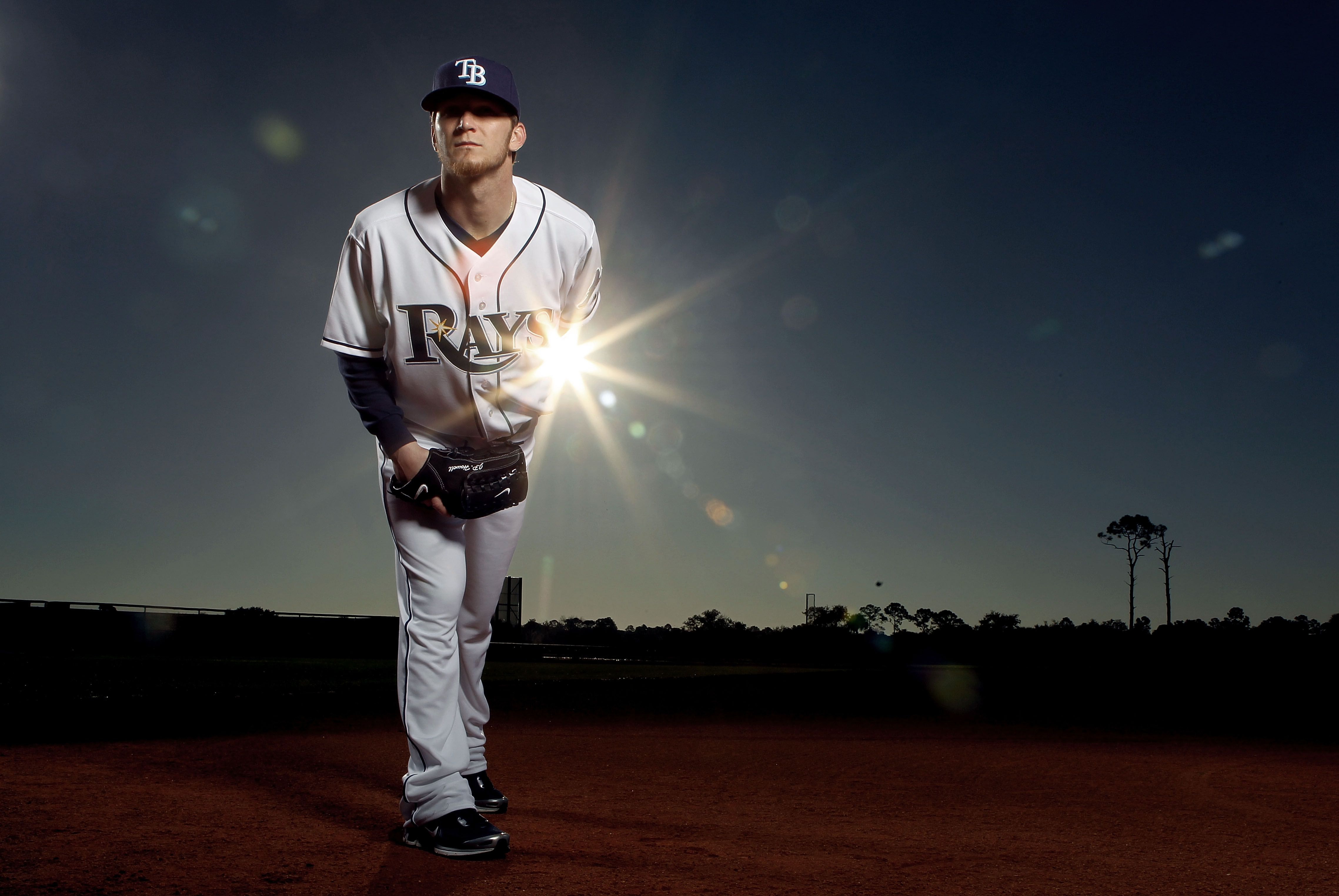 PORT CHARLOTTE, FL - FEBRUARY 26:  (EDITOR'S NOTE: IMAGE HAS BEEN DIGITALLY DESATURATED) J.P. Howell #39 of the Tampa Bay Rays poses for a photo during Spring Training Media Photo Day at Charlotte County Sports Park on February 26, 2010 in Port Charlotte,