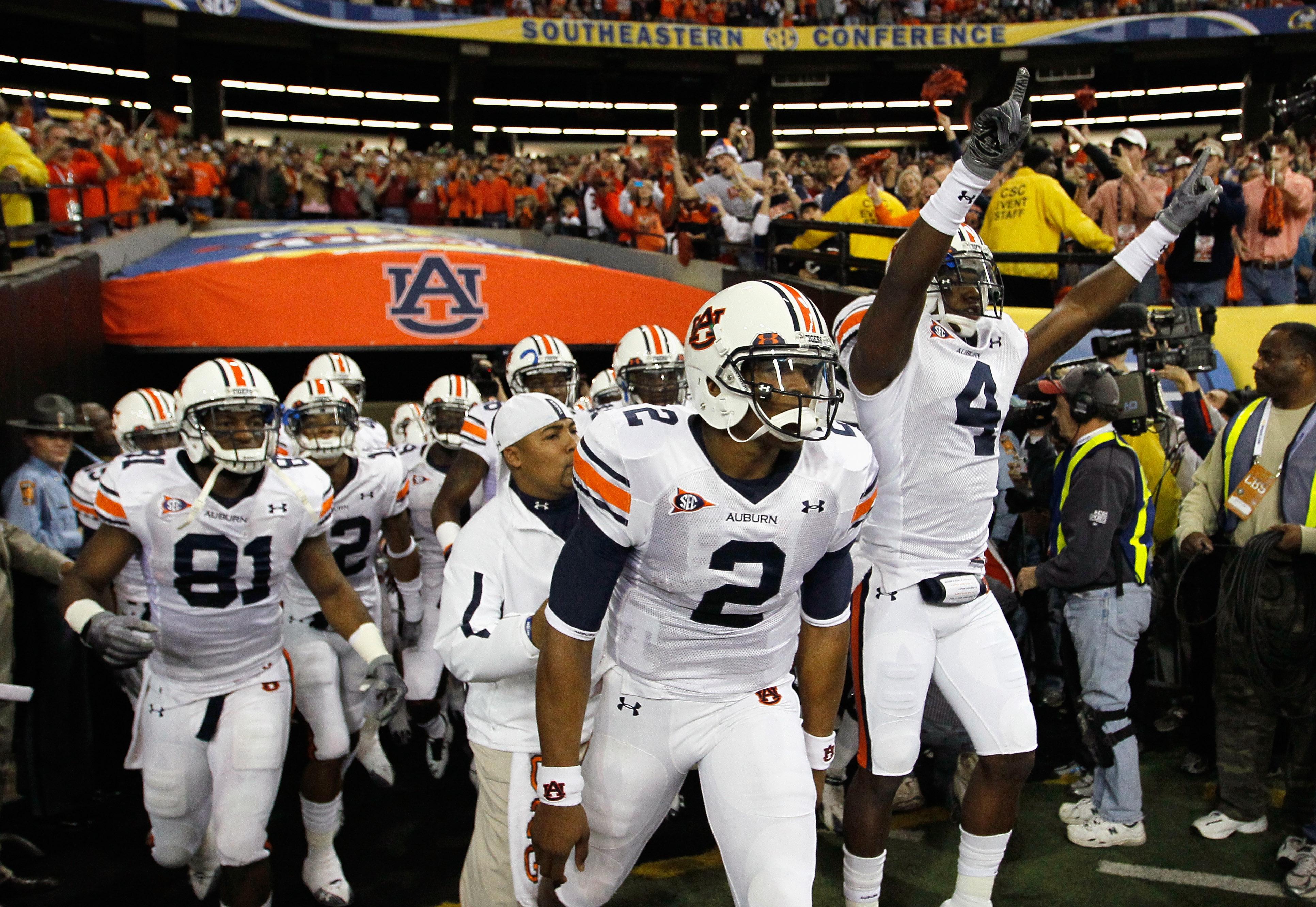 Auburn won the SEC Championship destroying South Carolina