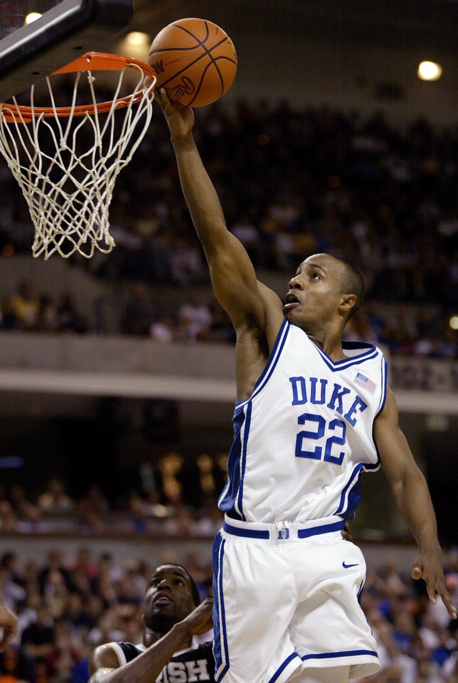 16 Mar 2002:  Jason Williams #22 of Duke drives to the basket during their game with Notre Dame during the NCAA 2nd round basketball game at the Bi-Lo Center in Greenville, South Carolina. DIGITAL IMAGEMandatory Credit: Craig Jones/Getty Images