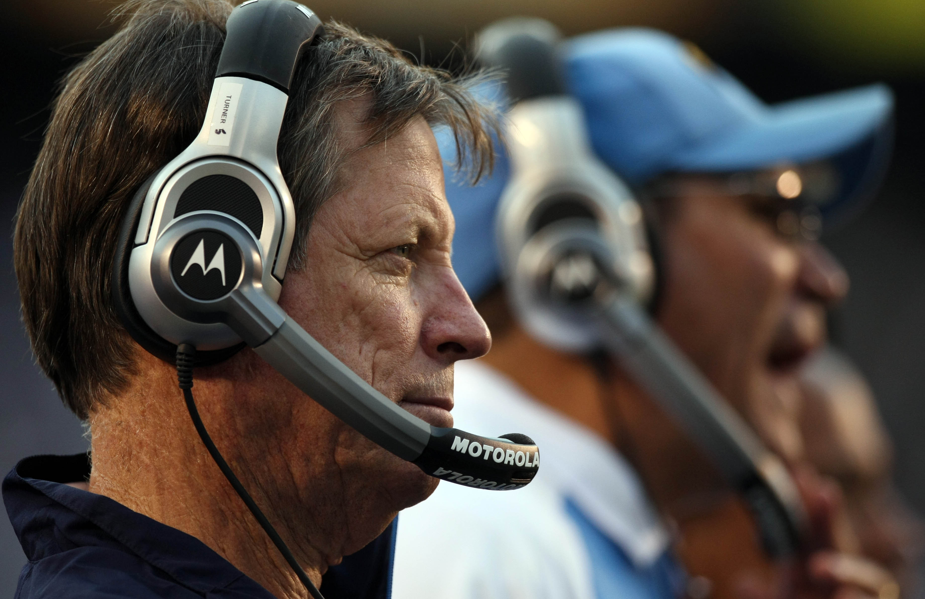 SAN DIEGO, CA - DECEMBER 5: Head Coach Norv Turner of the San Diego Chargers looks on from the sidelines against the Oakland Raiders during their NFL game at Qualcomm Stadium on December 5, 2010 in San Diego, California. (Photo by Donald Miralle/Getty Ima
