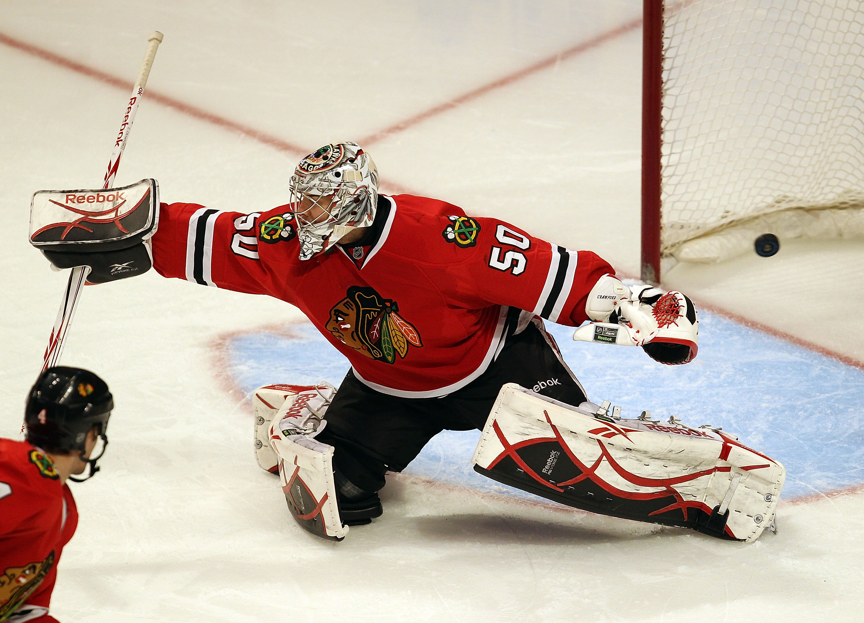 Rookie goaltender Corey Crawford has been a pleasant surprise for the defending Stanley Cup Champions