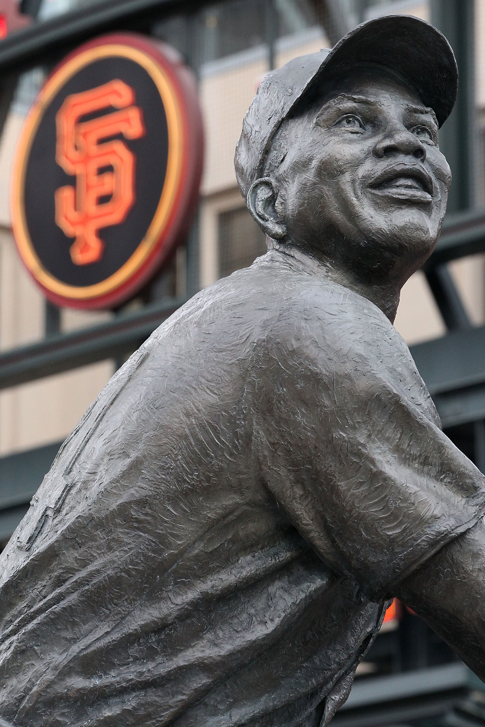 SAN FRANCISCO - OCTOBER 28:  A statue of baseball legend Willie Mays in Willie Mays Plaza before Game Two of the 2010 MLB World Series between the San Francisco Giants and the Texas Rangers at AT&T Park on October 28, 2010 in San Francisco, California.  (
