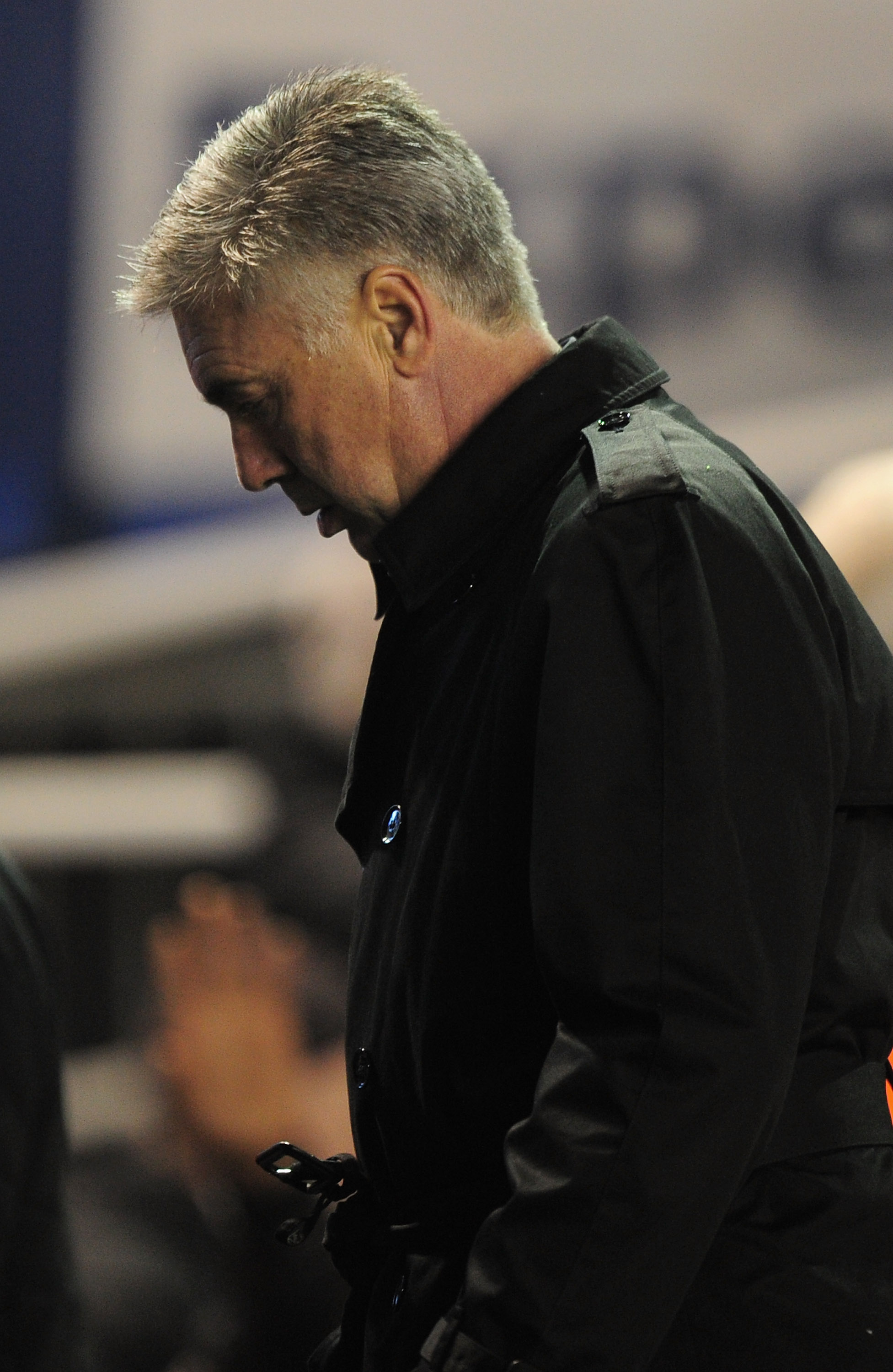 BIRMINGHAM, ENGLAND - NOVEMBER 20:  Chelsea manager Carlo Ancelotti is dejected after defeat in the Barclays Premier League match between Birmingham City and Chelsea at St Andrews on November 20, 2010 in Birmingham, England.  (Photo by Shaun Botterill/Get