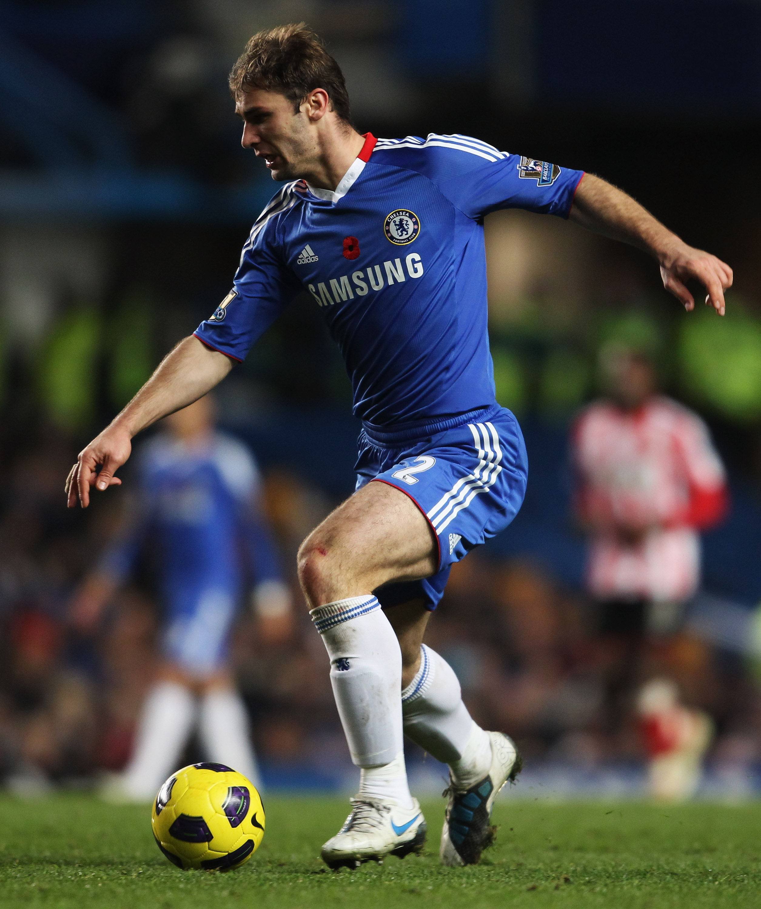LONDON, ENGLAND - NOVEMBER 14:  Branislav Ivanovic of Chelsea in action during the Barclays Premier League match between Chelsea and Sunderland at Stamford Bridge on November 14, 2010 in London, England.  (Photo by Scott Heavey/Getty Images)