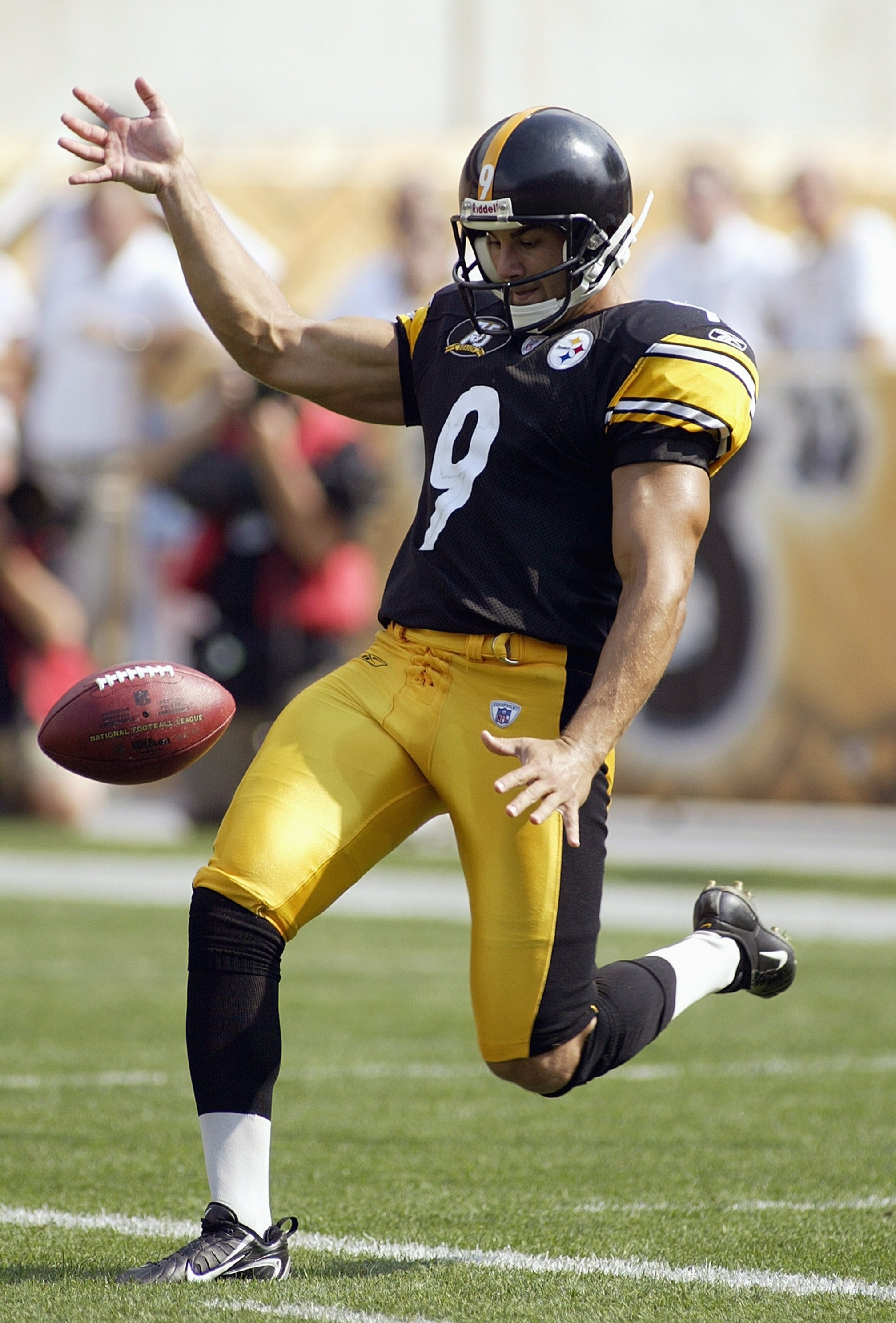 PITTSBURGH - OCTOBER 7: Daniel Sepulveda #9 of the Pittsburgh Steelers punts the ball during the NFL game against the Seattle Seahawks at Heinz Field October 7, 2007 in Pittsburgh, Pennsylvania. The Steelers won 21-0. (Photo by Rick Stewart/Getty Images)