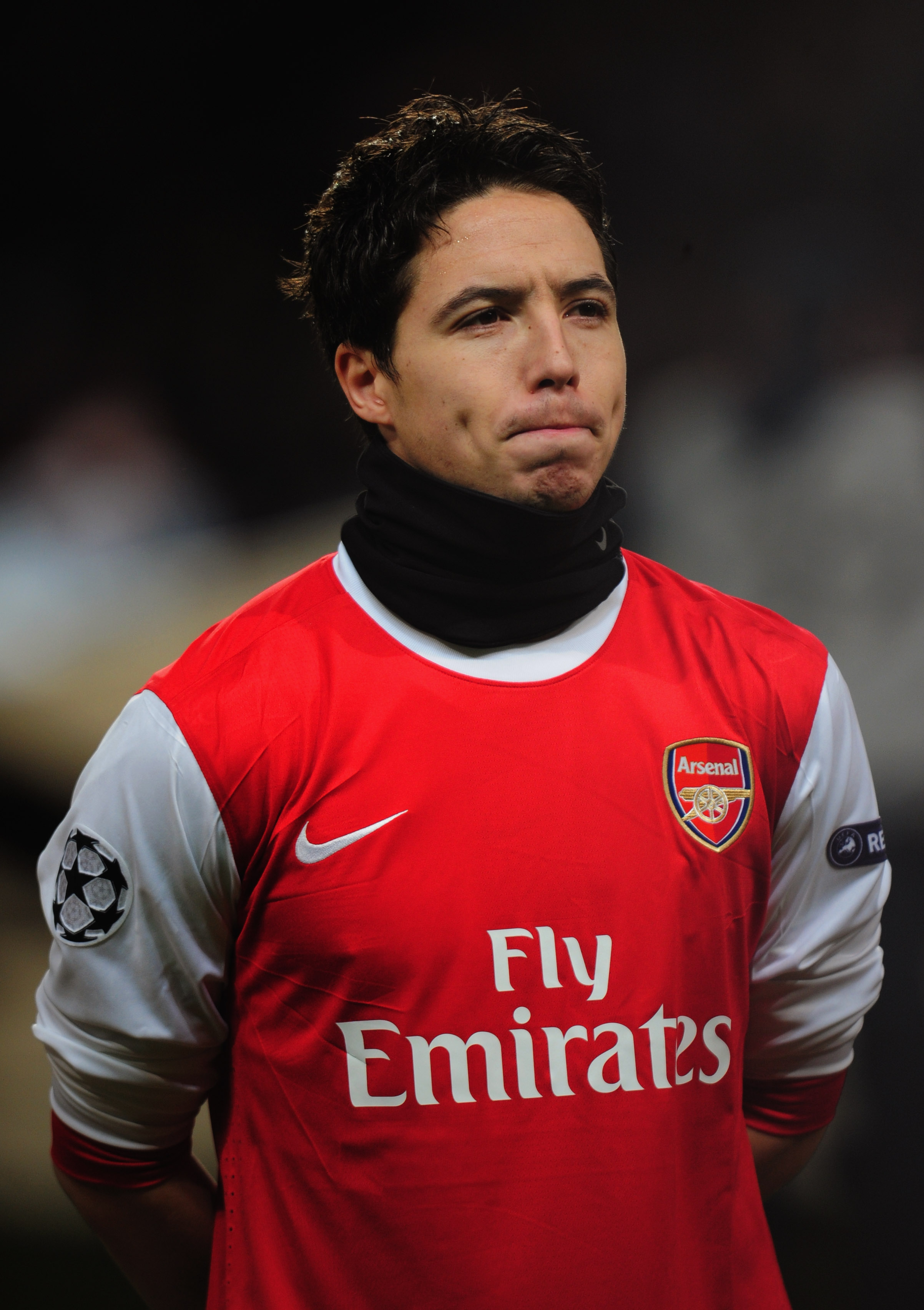 LONDON, ENGLAND - DECEMBER 08:  Samir Nasri of Arsenal looks on prior to the UEFA Champions League Group H match between Arsenal and FK Partizan Belgrade at the Emirates Stadium on December 8, 2010 in London, England.  (Photo by Shaun Botterill/Getty Imag