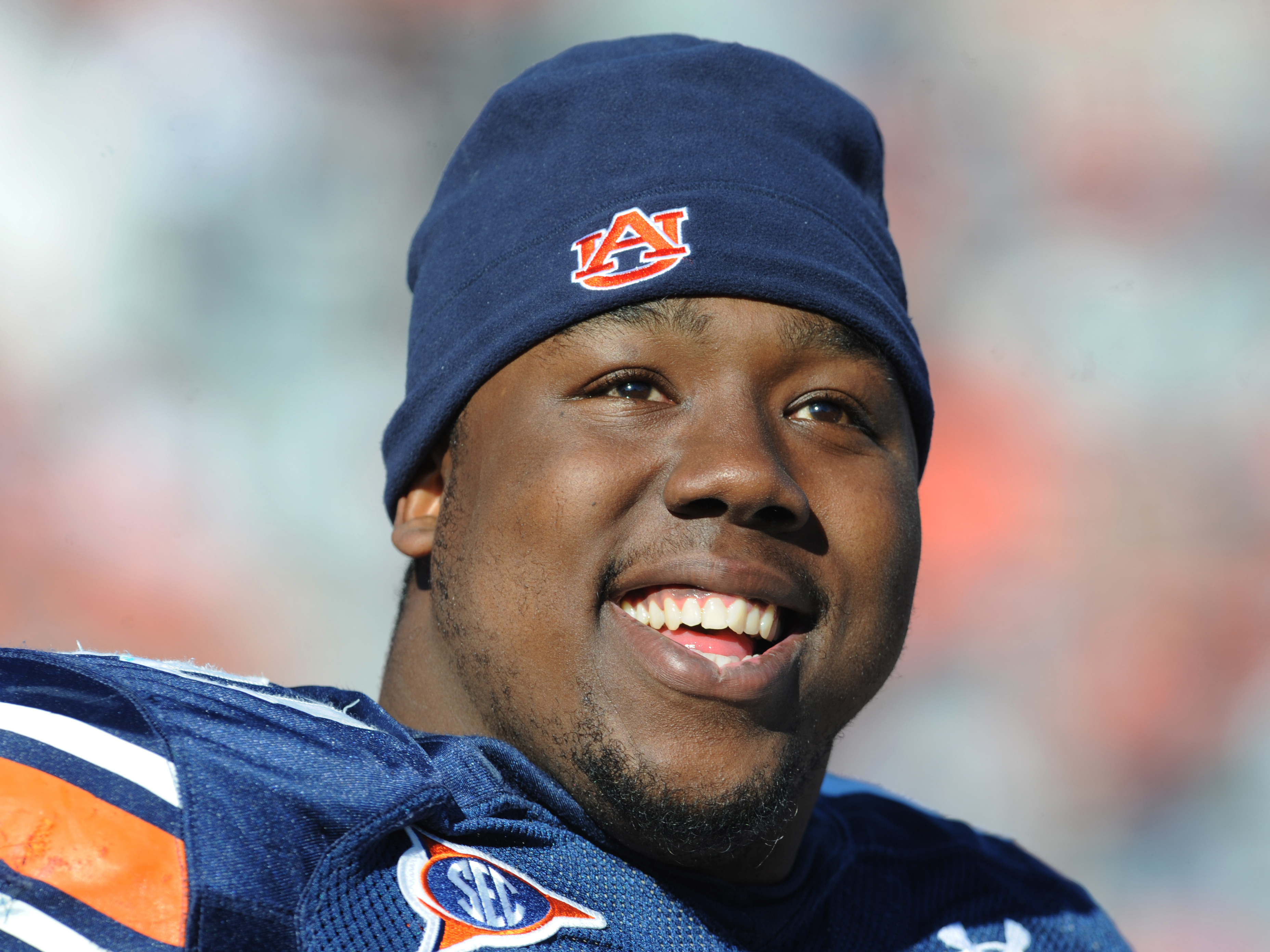 AUBURN, AL - NOVEMBER 06:  Defensive tackle Nick Fairley #90 of the Auburn Tigers watches play against the Chattanooga Mocs November 6, 2010 at Jordan-Hare Stadium in Auburn, Alabama.  (Photo by Al Messerschmidt/Getty Images)
