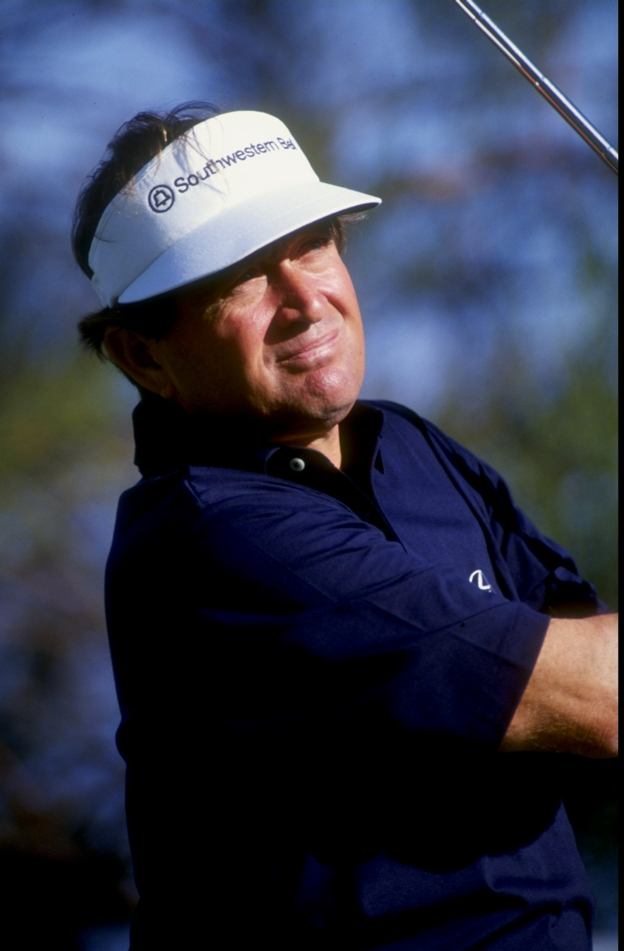 Nov 1991:  Ray Floyd watches his shot during the 1991 Shark Shootout at the Sherwood Country Club in Thousand Oaks, California. Mandatory Credit: Stephen Dunn  /Allsport