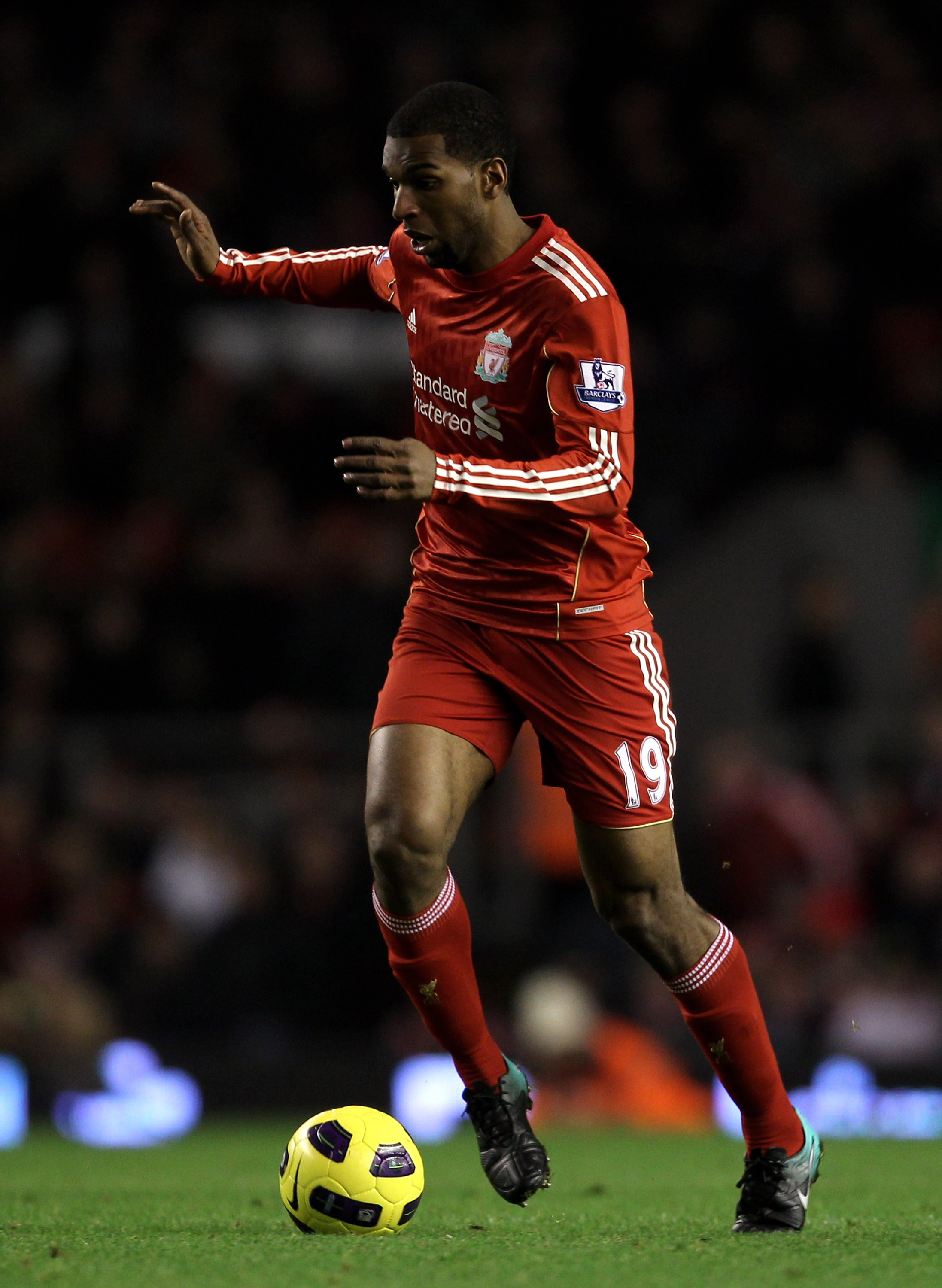LIVERPOOL, ENGLAND - NOVEMBER 20:  Ryan Babel of Liverpool in action during the Barclays Premier League match between Liverpool and West Ham United at Anfield on November 20, 2010 in Liverpool, England.  (Photo by Alex Livesey/Getty Images)