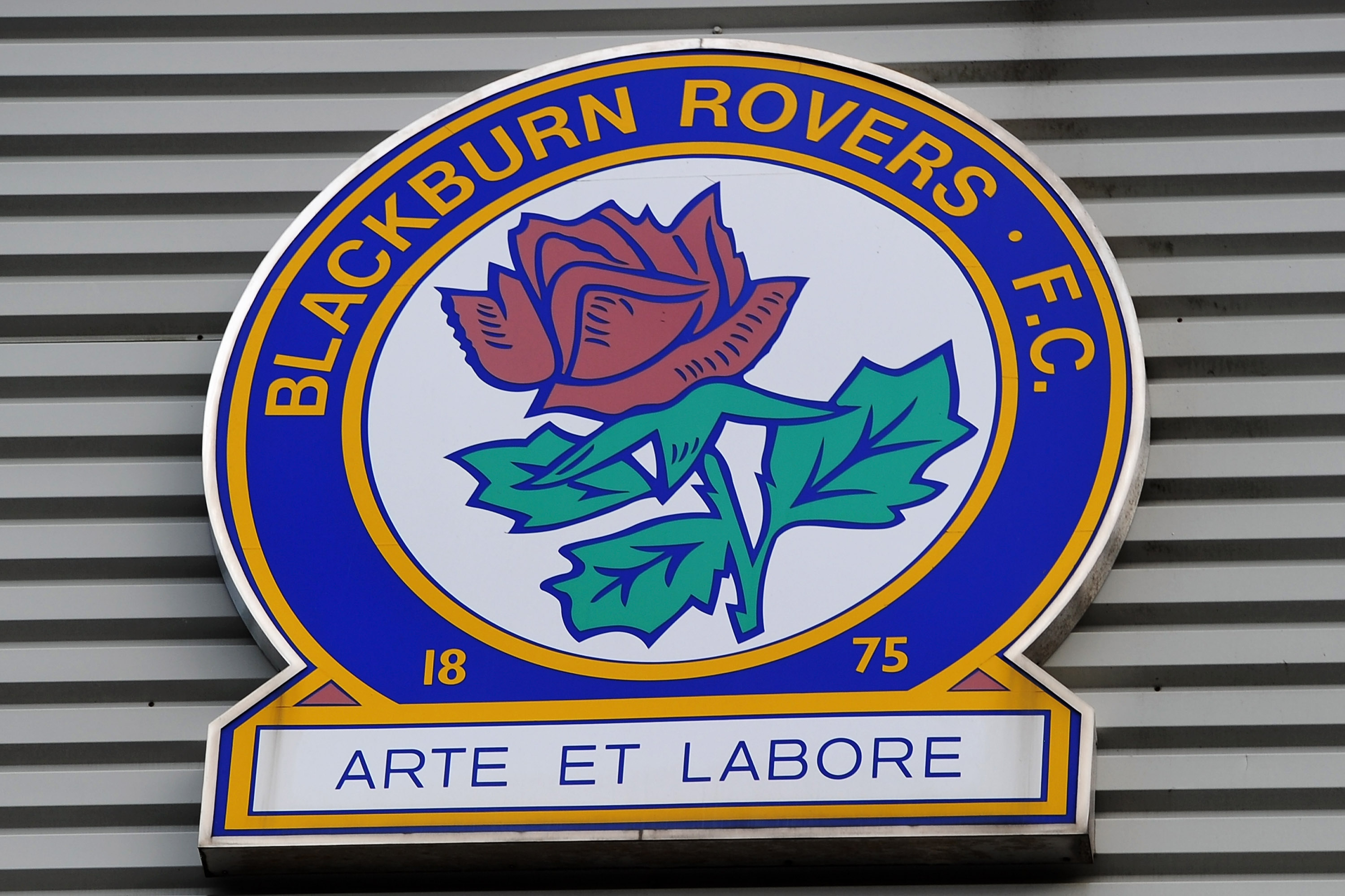 BLACKBURN, ENGLAND - OCTOBER 30:  General view of the Blackburn crest during the Barclays Premier League match between Blackburn Rovers and Chelsea at Ewood Park on October 30, 2010 in Blackburn, England.  (Photo by Mike Hewitt/Getty Images)