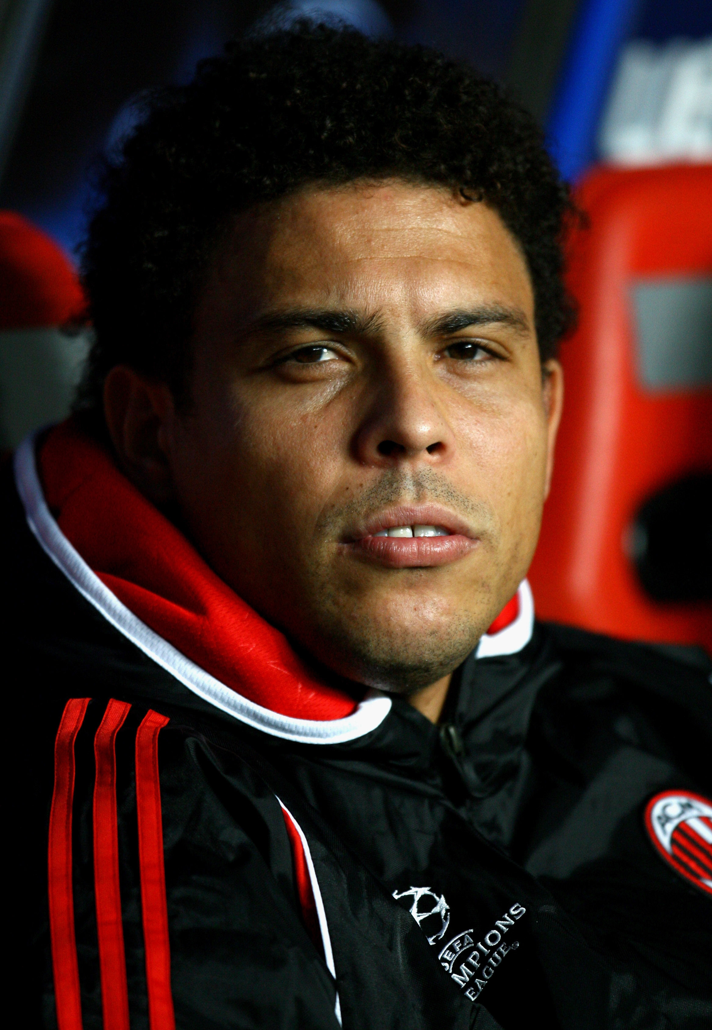 LISBON, PORTUGAL - NOVEMBER 28:  Ronaldo of AC Milan looks on from the substitutes bench before the kick off of the UEFA Champions League Group D match between Benfica and AC Milan at the Luz Stadium on November 28, 2007 in Lisbon, Portugal.  (Photo by Pa