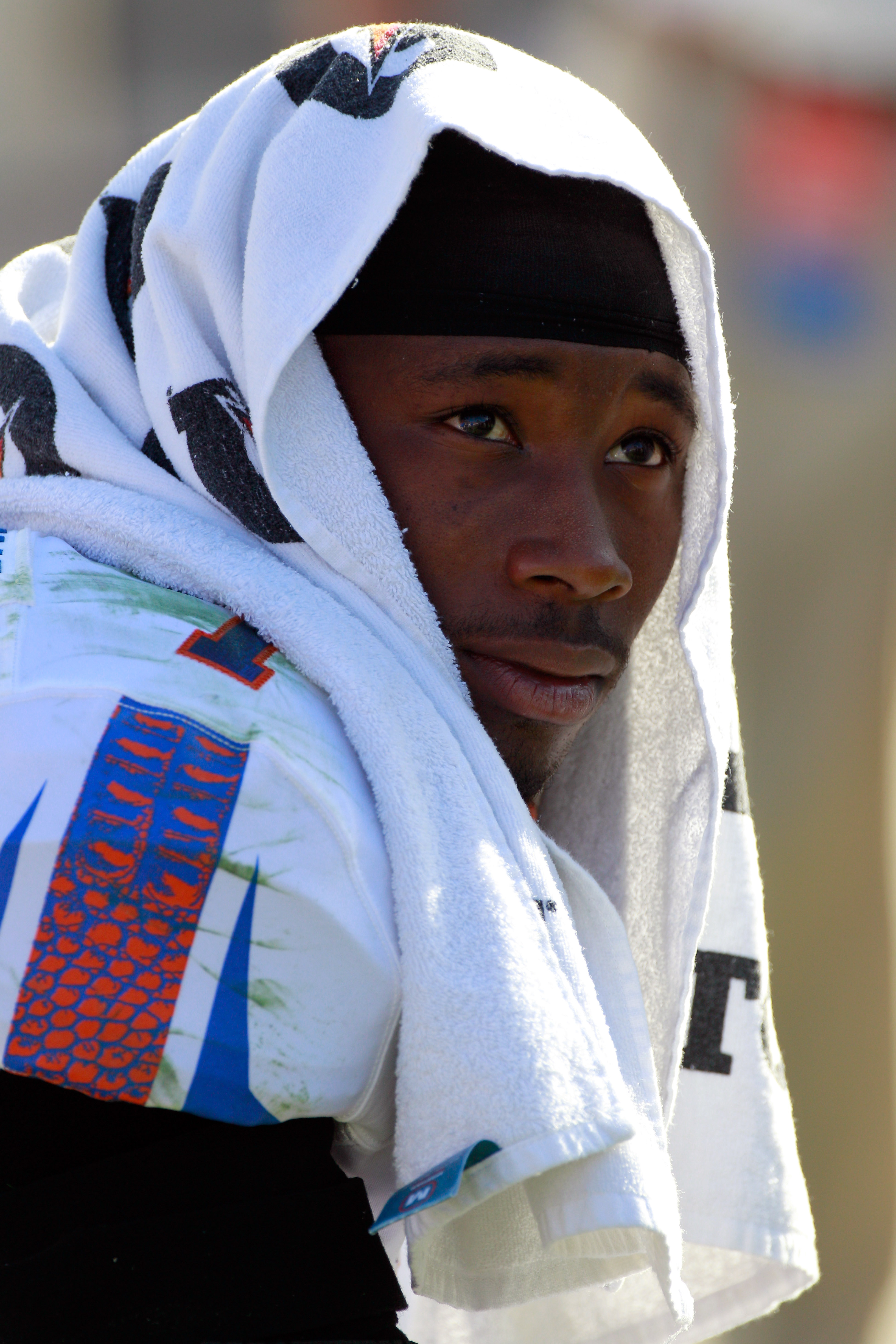 JACKSONVILLE, FL - OCTOBER 30:  Janoris Jenkins #1 of the Florida Gators watches the action during the game against the Georgia Bulldogs at EverBank Field on October 30, 2010 in Jacksonville, Florida.  (Photo by Sam Greenwood/Getty Images)