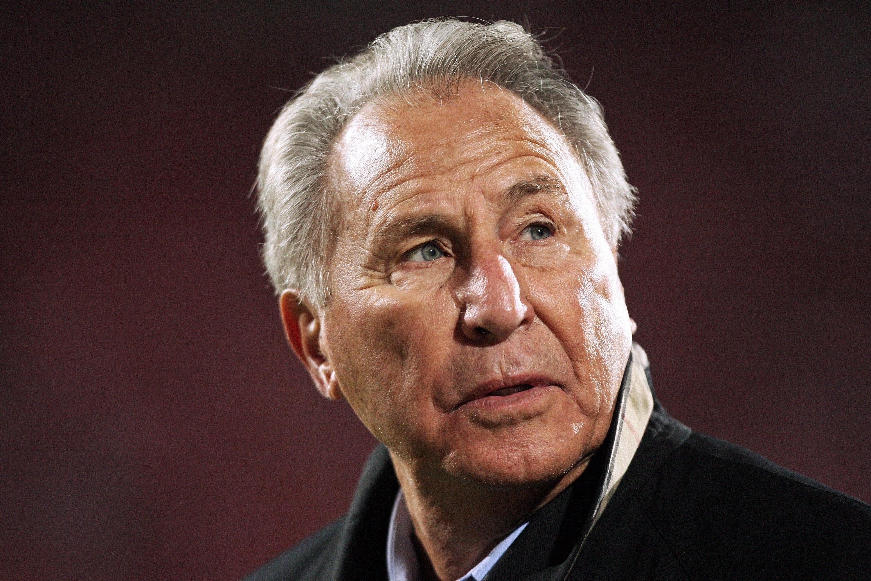 COLUMBUS, OH - OCTOBER 25: ESPN television personality Lee Corso watches the Ohio State Buckeyes play the Penn State Nittany Lions on October 25, 2008 at Ohio Stadium in Columbus, Ohio.  (Photo by Jamie Sabau/Getty Images)