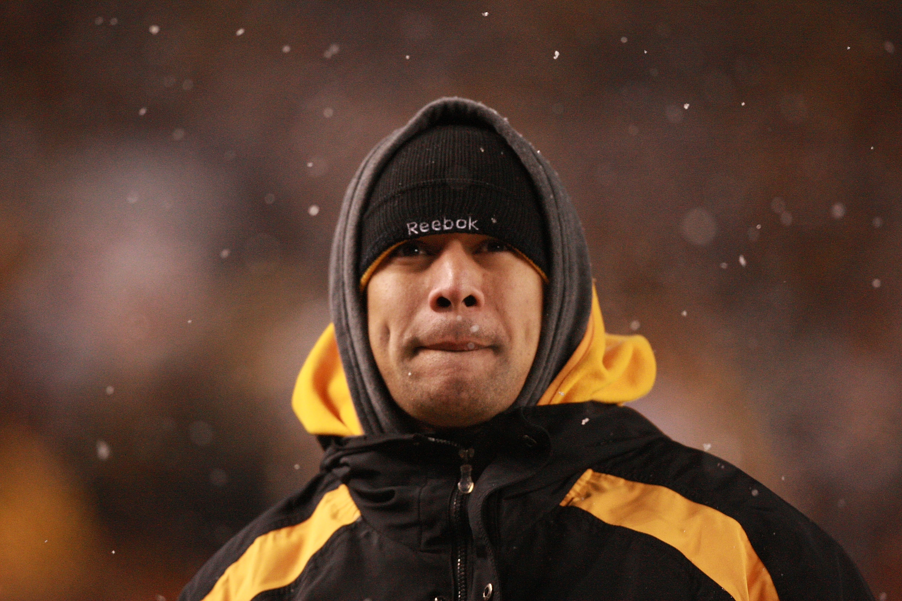 PITTSBURGH - DECEMBER 19:  Troy Polamalu of the Pittsburgh Steelers is seen on the sideline during the game against the New York Jets at Heinz Field on December 19, 2010 in Pittsburgh, Pennsylvania.  (Photo by Karl Walter/Getty Images)