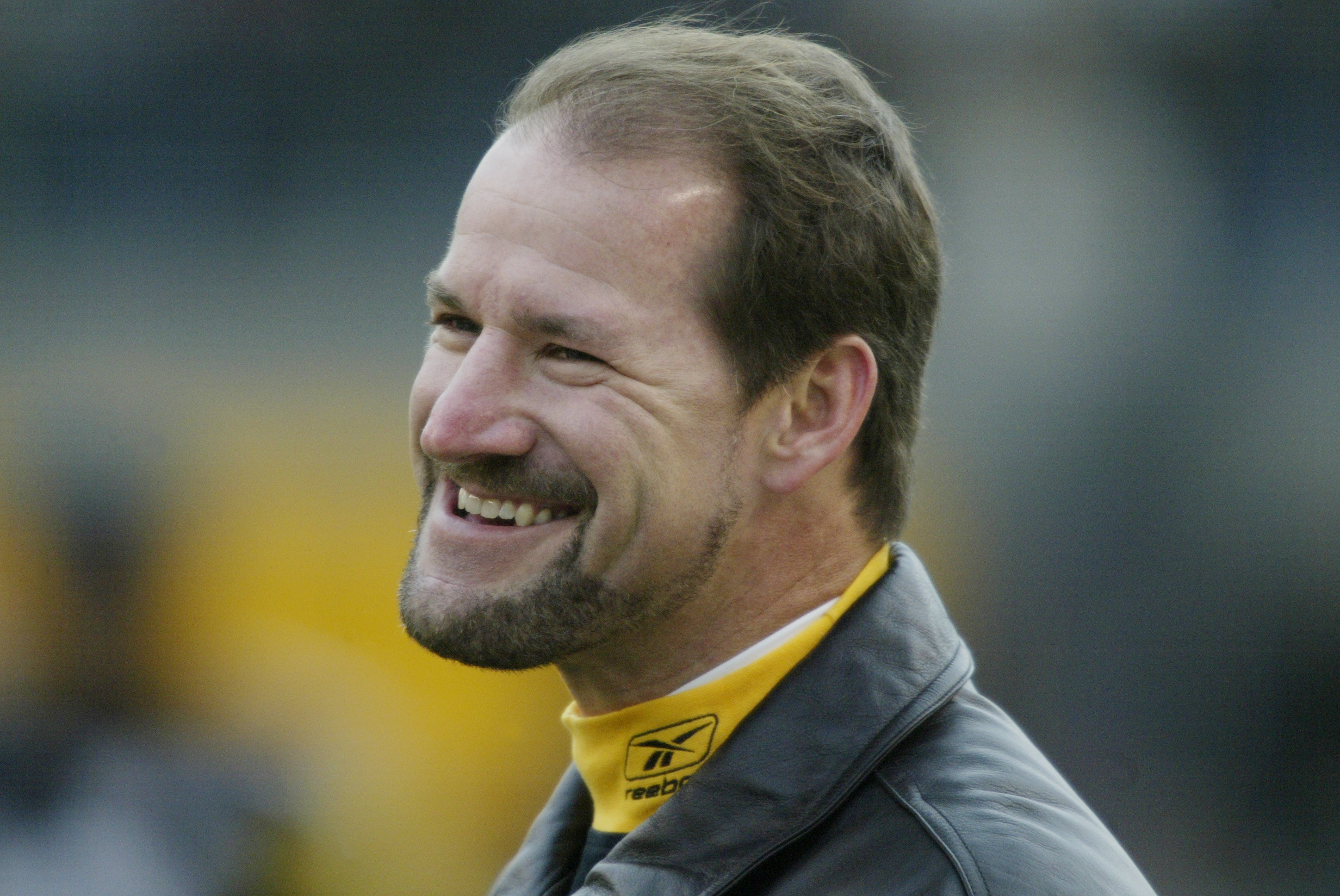 b752dfaa0 PITTSBURGH - DECEMBER 8   Coach Bill Cowher of the Pittsburgh Steelers  smiles on the field