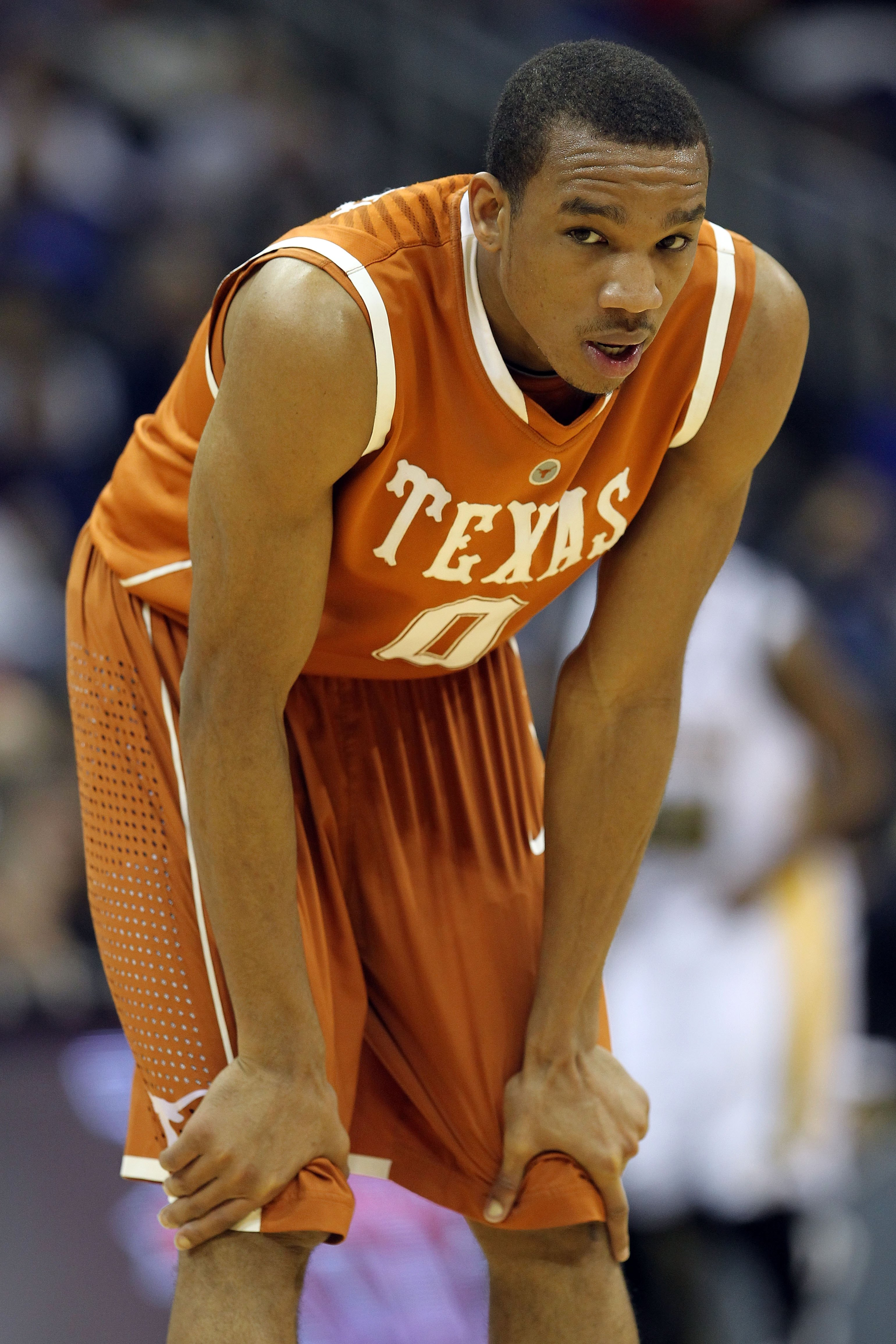 KANSAS CITY, MO - MARCH 11:  Avery Bradley #0 of the Texas Longhorns looks on while taking on the Baylor Bears during the quarterfinals of the 2010 Phillips 66 Big 12 Men's Basketball Tournament at the Sprint Center on March 11, 2010 in Kansas City, Misso