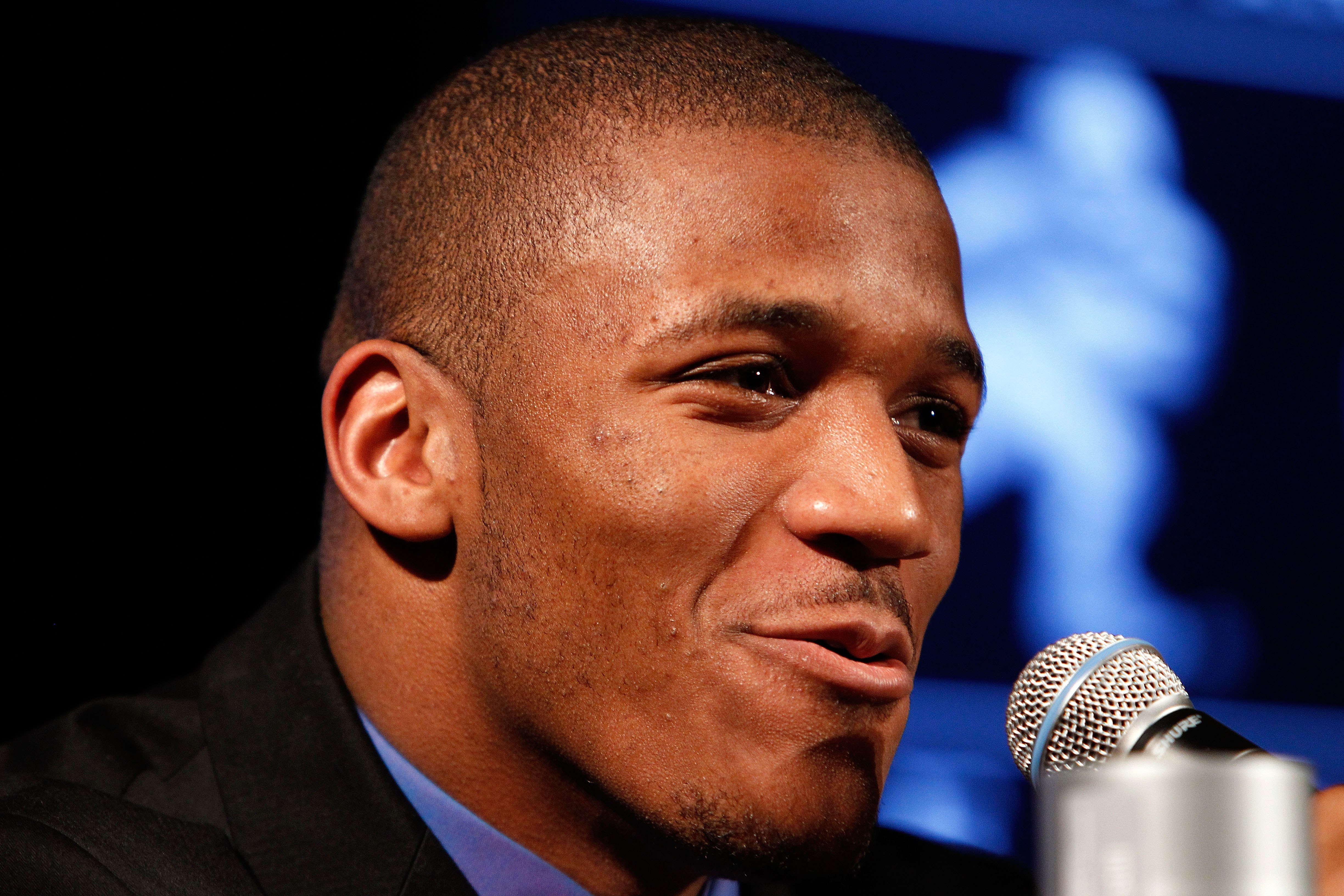 NEW YORK, NY - DECEMBER 11:  LaMichael James of the University of Oregon Ducks speaks during a press conference for Heisman Trophy candidates at The New York Marriott Marquis on December 11, 2010 in New York City.  (Photo by Jeff Zelevansky/Getty Images)