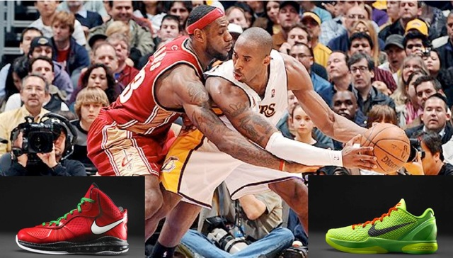 2e6be0de3e10 Kobe Bryant and his Los Angeles Lakers take on LeBron James