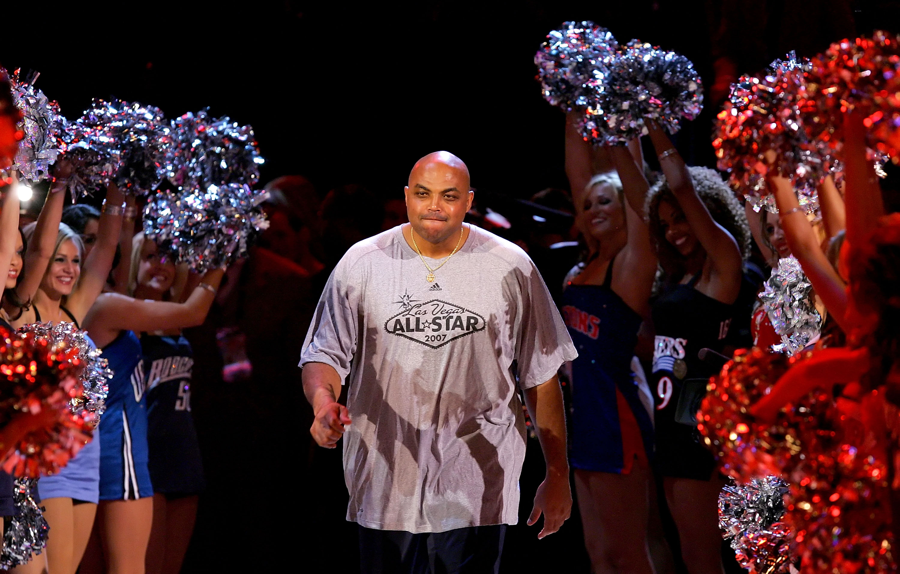 1b4eaed5ae LAS VEGAS - FEBRUARY 17: NBA legend Charles Barkley is introduced before  the start of