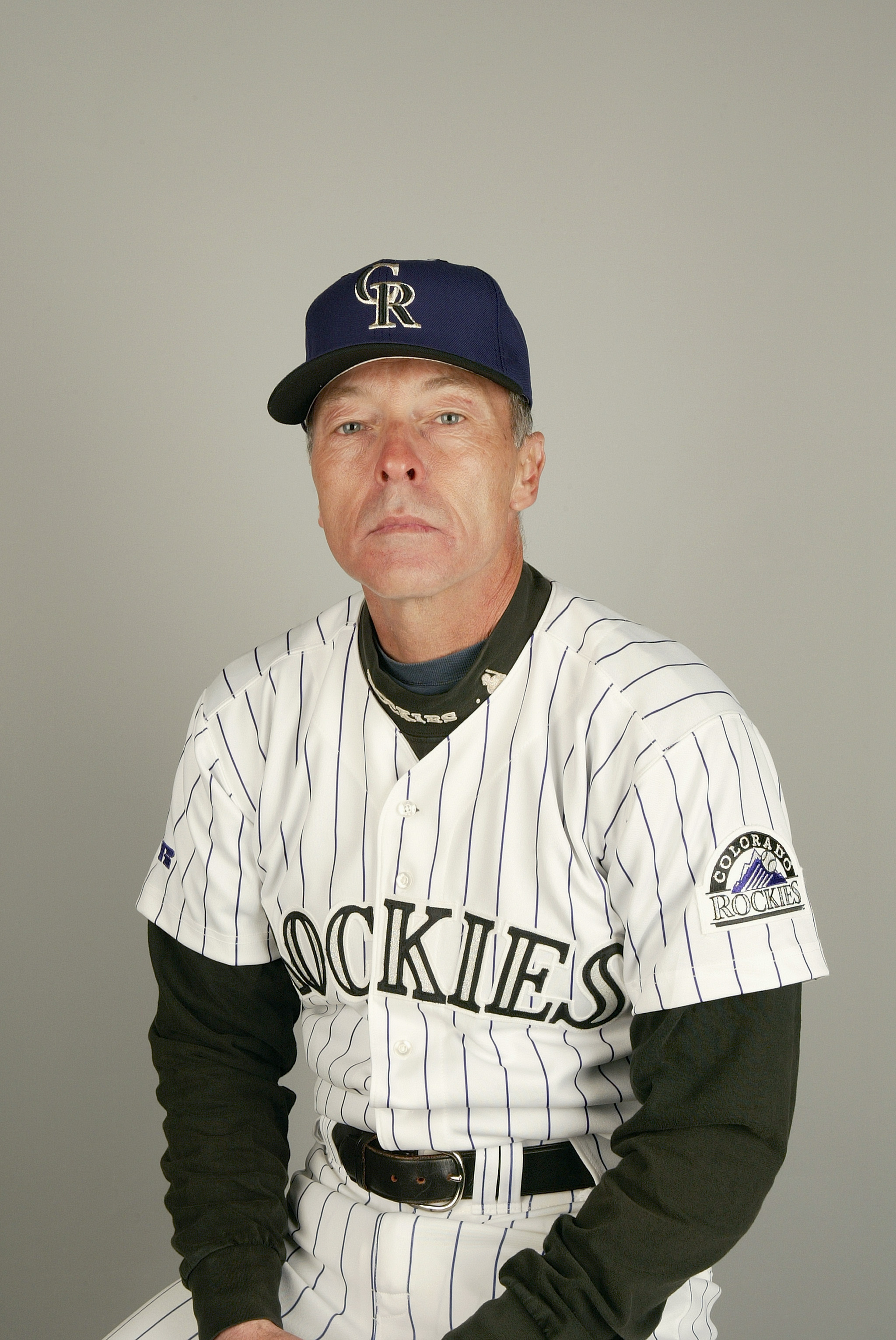 TUCSON - FEBRUARY 28:  Coach Dave Collins #29 of the Colorado Rockies during the 2004 MLB Spring Training Photo Day at Hi Corbett Field on February 28, 2004 in Tucson, Arizona. (Photo by Harry How/Getty Images)