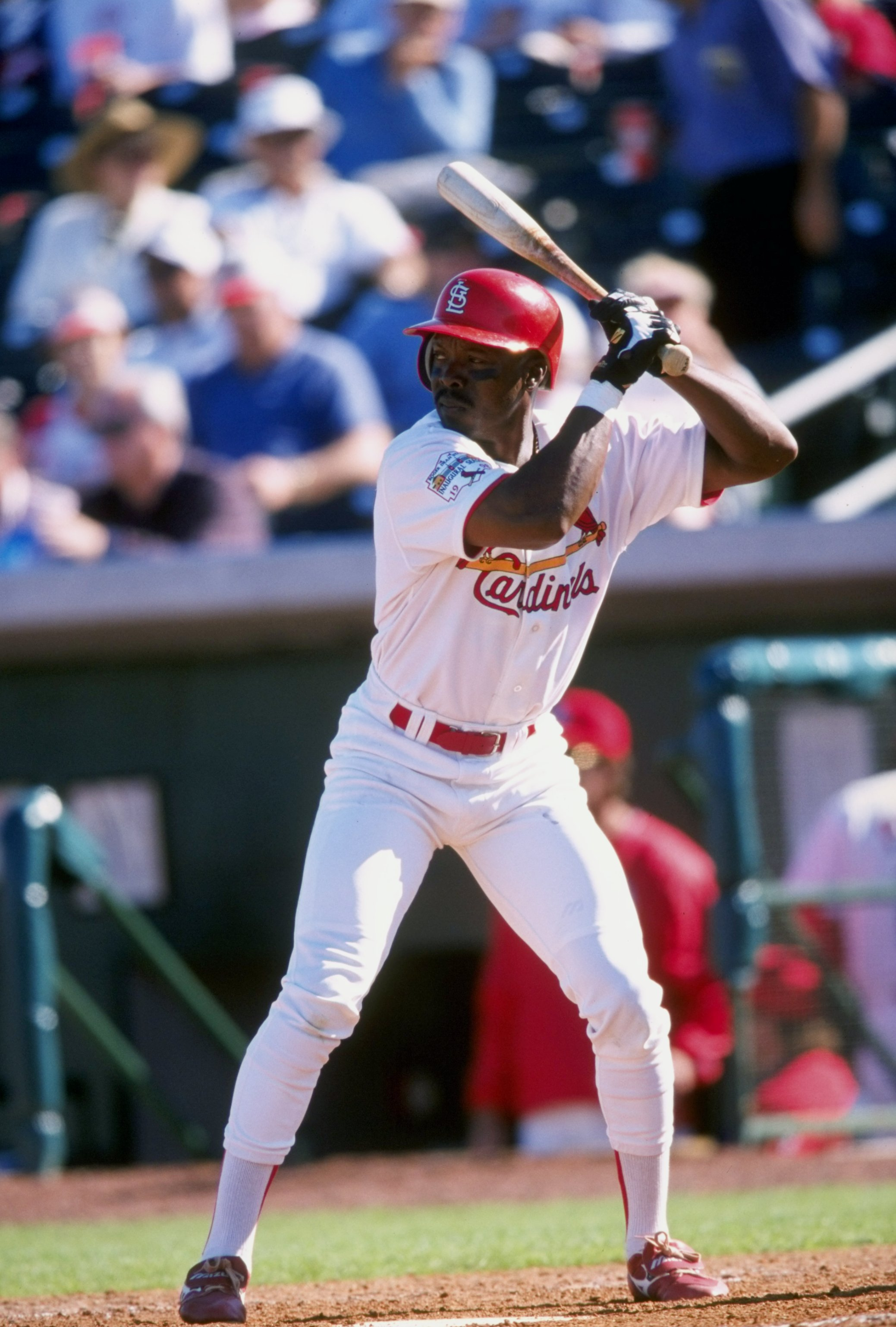 2 Mar 1998:  Vince Coleman #29 of the St. Louis Cardinals in action during their 13-5 win over the Los Angeles Dodgers during Spring Training at the Roger Dean Stadium in Jupiter, Florida. Mandatory Credit: Stephen Dunn  /Allsport