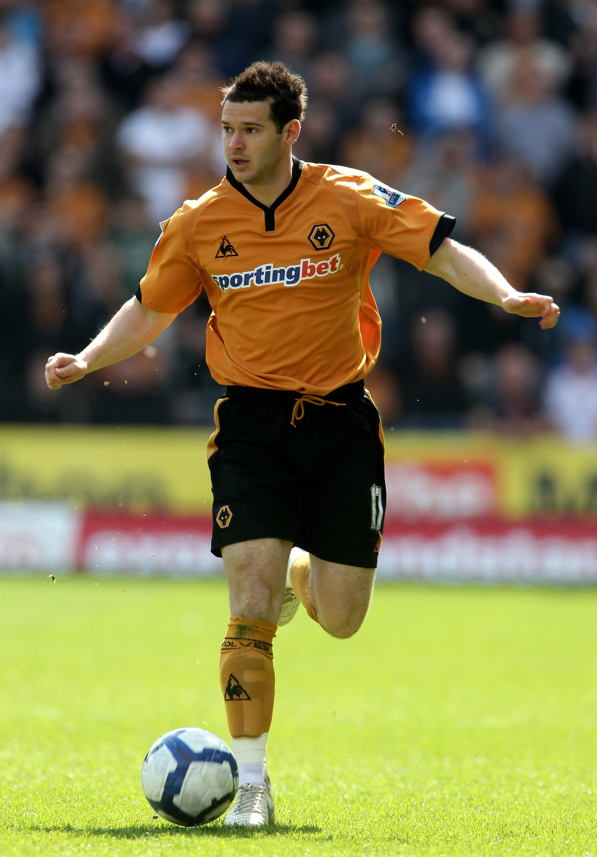 Premier League 25 Players Too Good For Their Current Clubs Aku April 2010 Wolverhampton England 11 Matt Jarvis Of Wanderers In Action During The