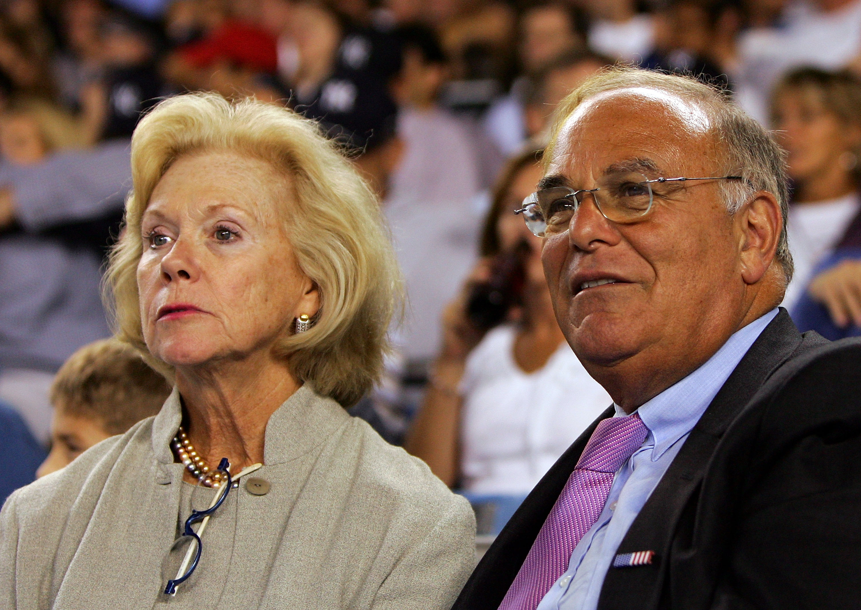 NEW YORK - SEPTEMBER 17:  Pennsylvania Gov. Ed Rendell attends the game between the New York Yankees and the Chicago White Sox with his wife Midge on September 17, 2008 at Yankee Stadium in the Bronx borough of New York City.  (Photo by Jim McIsaac/Getty