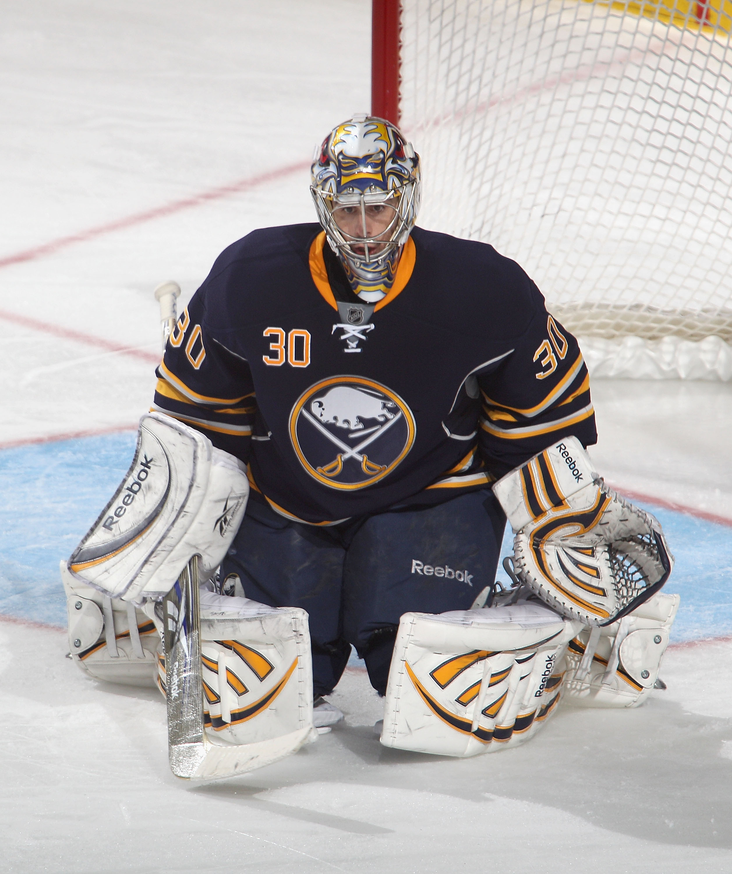 BUFFALO, NY - DECEMBER 23:  Ryan Miller #30 of the Buffalo Sabres plays goal against the Florida Panthers at HSBC Arena on December 23, 2010 in Buffalo, New York. Florida won 4-3.  (Photo by Rick Stewart/Getty Images)