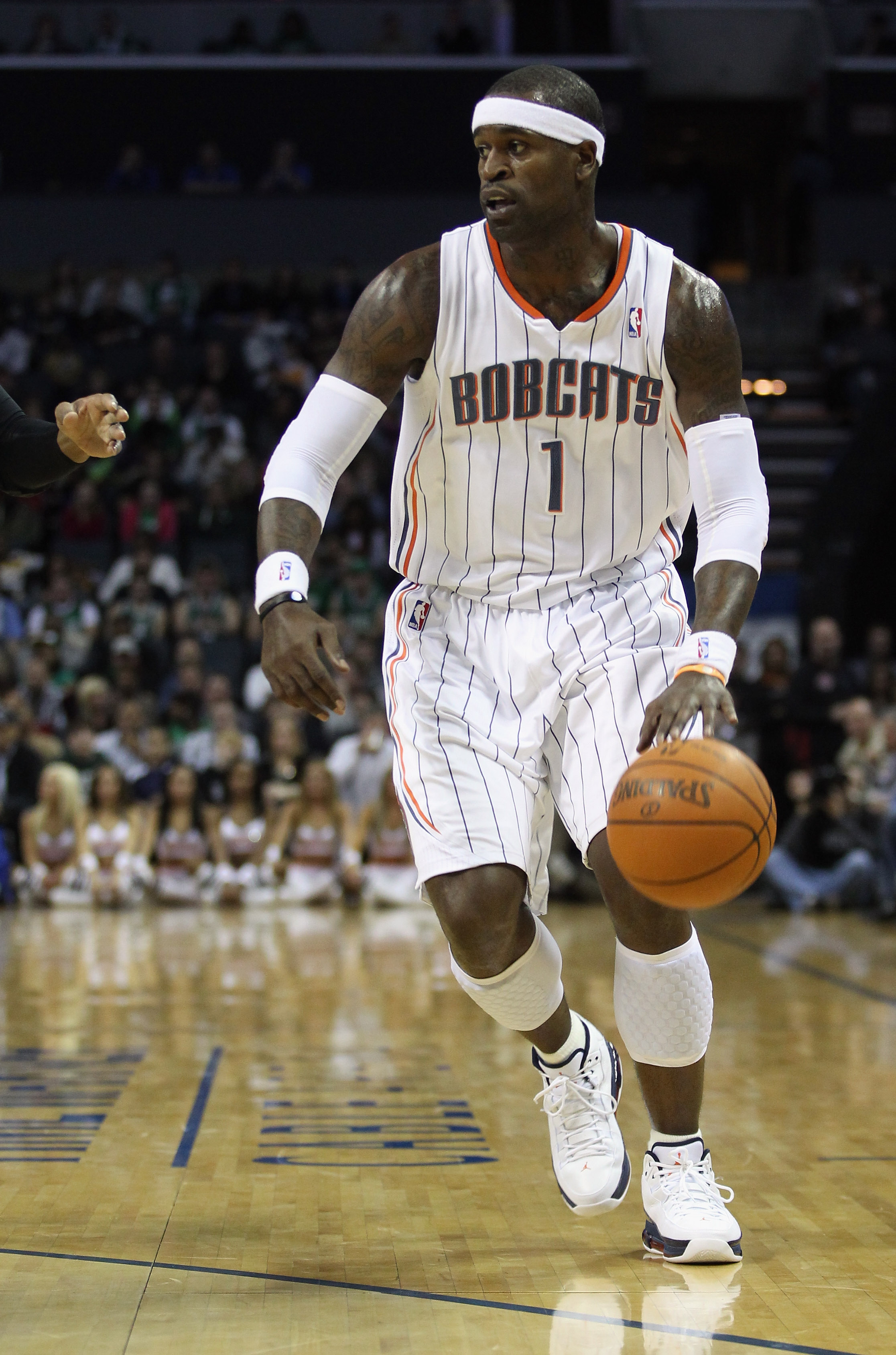 CHARLOTTE, NC - DECEMBER 11: Stephen Jackson #1 of the Charlotte Bobcats against the Boston Celtics during their game at Time Warner Cable Arena on December 11, 2010 in Charlotte, North Carolina. NOTE TO USER: User expressly acknowledges and agrees that,